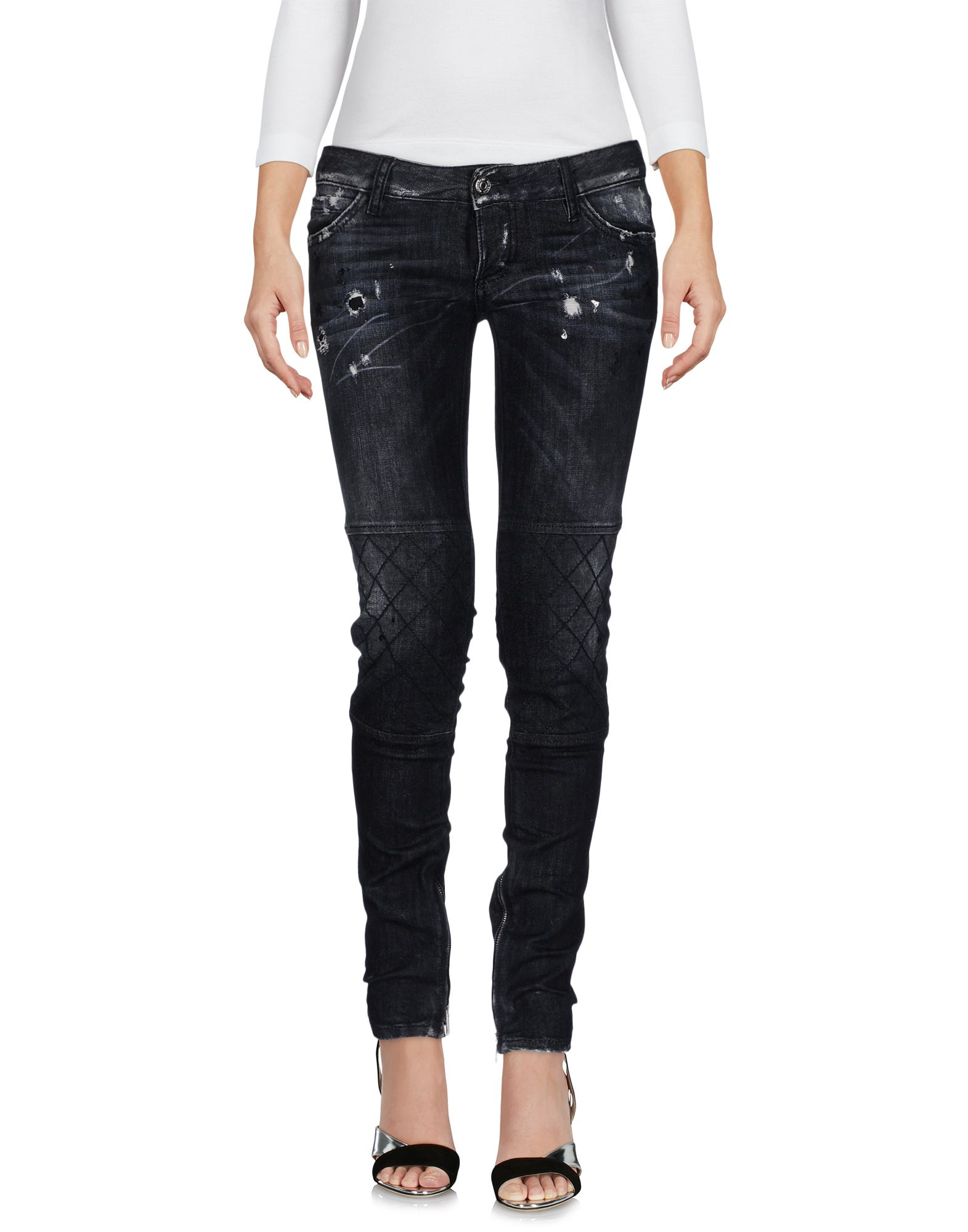 DSQUARED2 Damen Jeanshose Farbe Schwarz Größe 2 - broschei