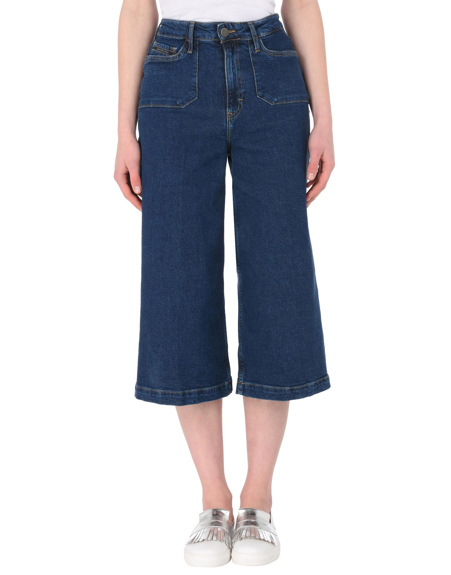 CALVIN KLEIN JEANS Джинсовые брюки-капри