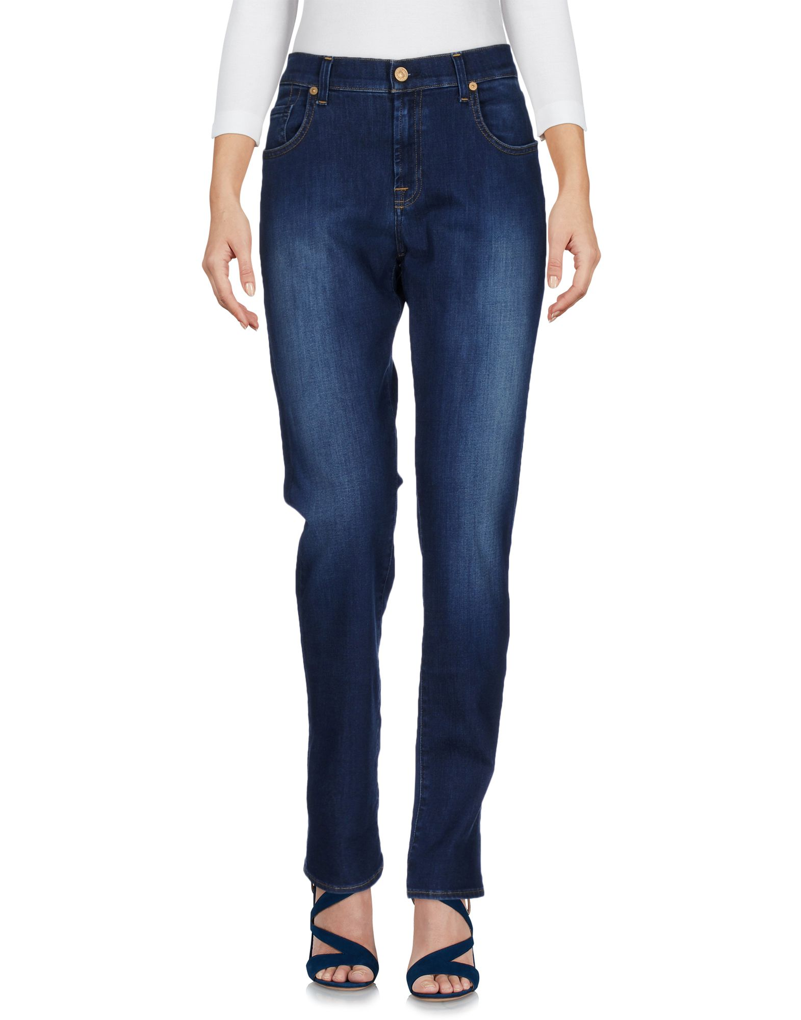7 FOR ALL MANKIND Damen Jeanshose Farbe Blau Größe 4