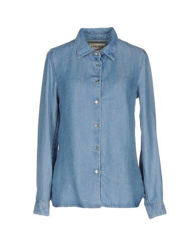Джинсовая рубашка L'AGENCE 42593049BR