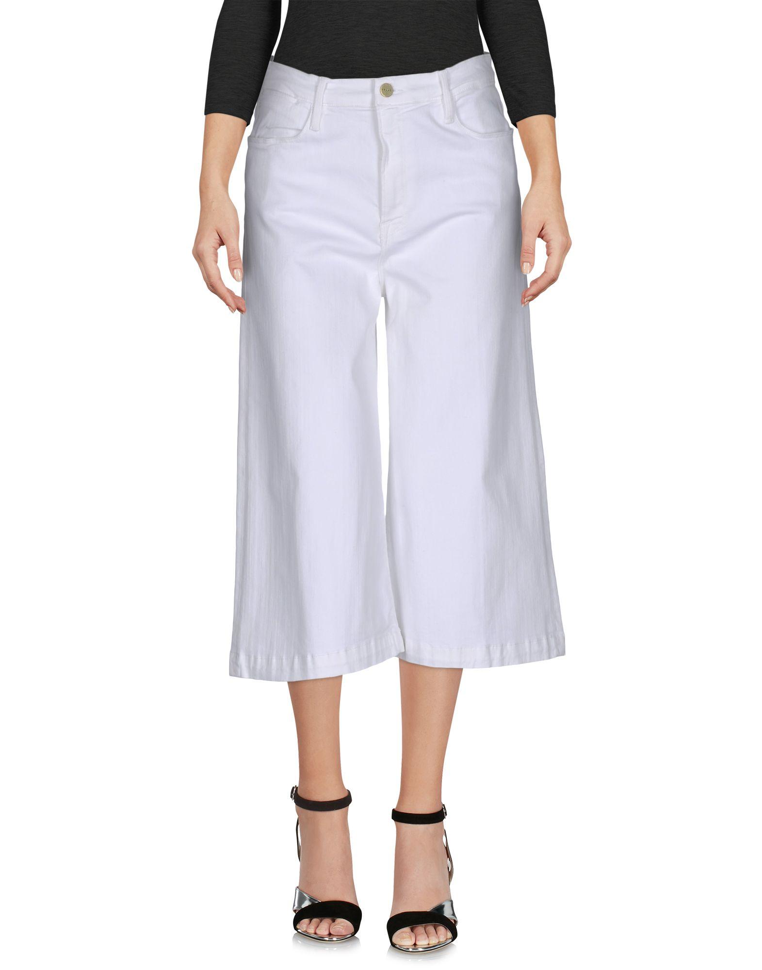 FRAME Джинсовые брюки-капри start up джинсовые брюки капри