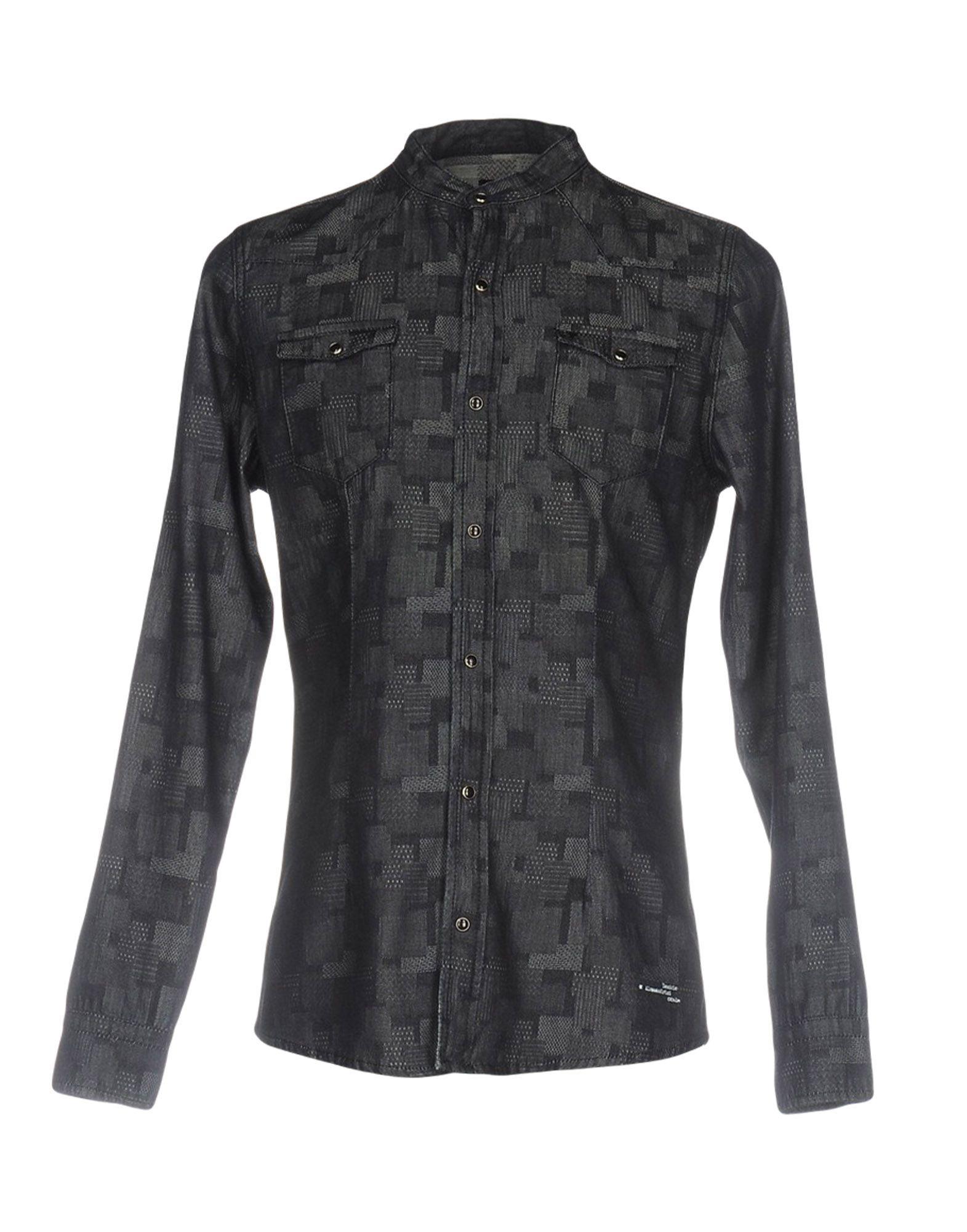 DANIELE ALESSANDRINI Джинсовая рубашка цена 2017