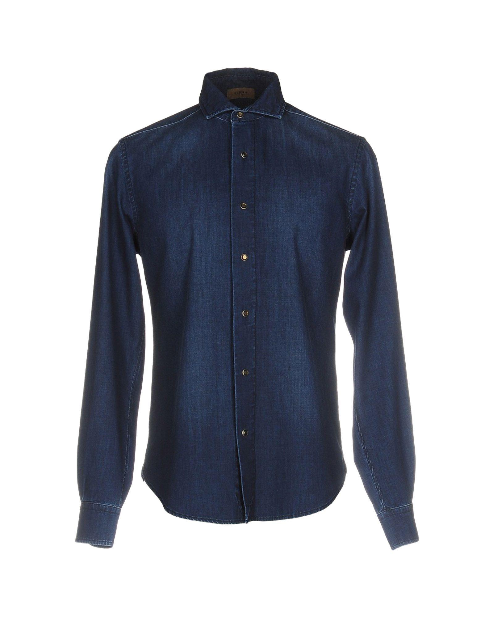 купить ALPHA STUDIO Джинсовая рубашка по цене 9250 рублей