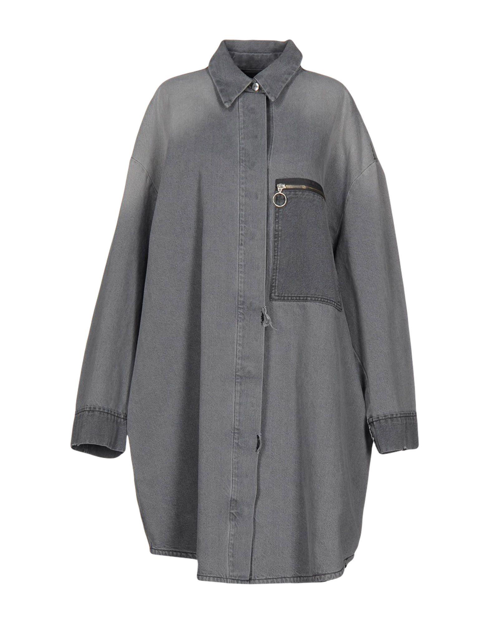 цена MM6 MAISON MARGIELA Джинсовая верхняя одежда онлайн в 2017 году
