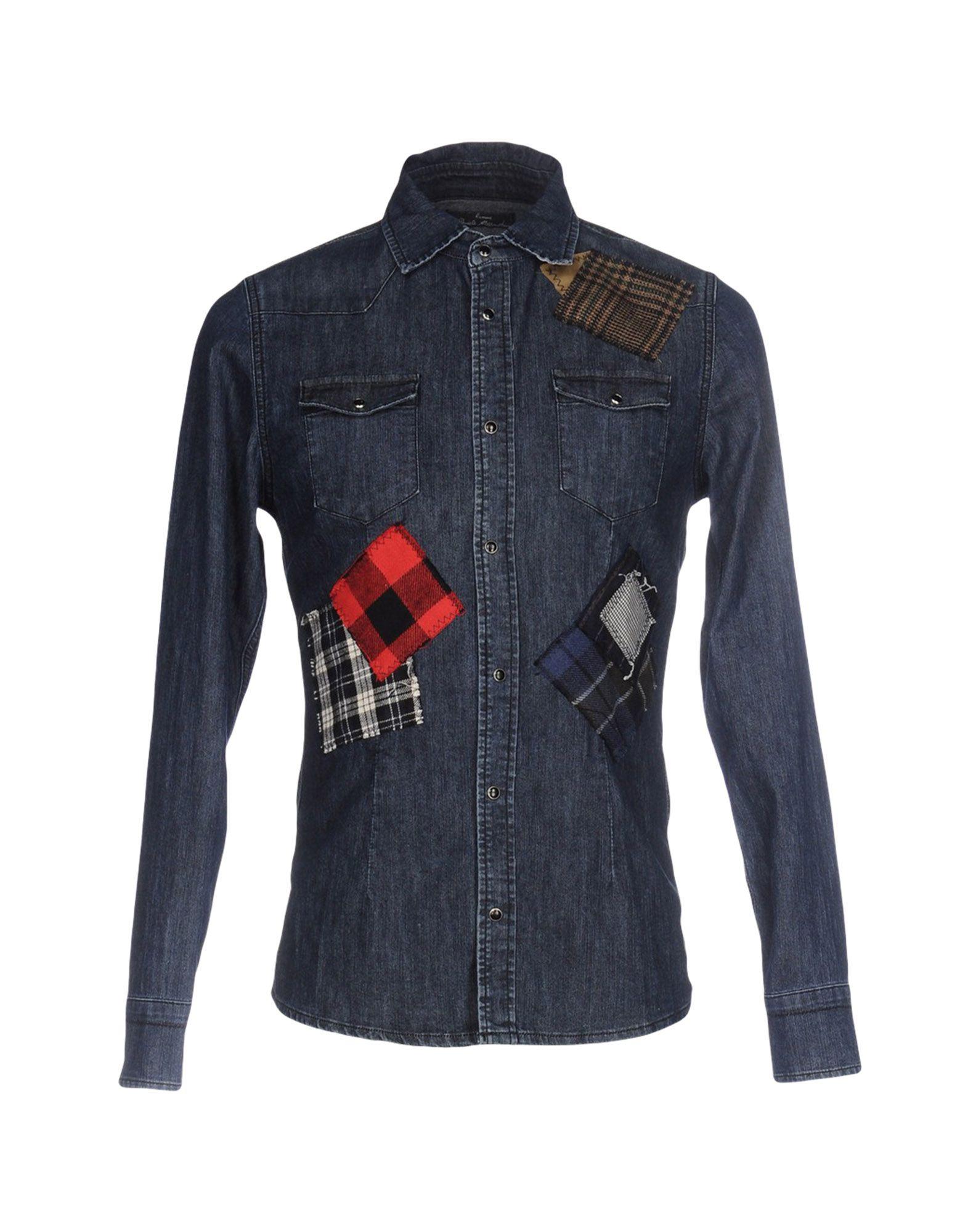 DANIELE ALESSANDRINI HOMME Джинсовая рубашка рубашка daniele alessandrini рубашка