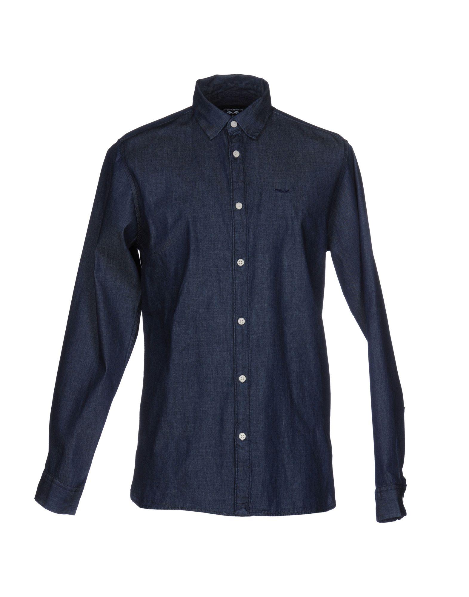 ANTONIO BANDERAS DESIGN by SELECTED HOMME Джинсовая рубашка пальто мужское selected homme antonio banderas цвет черный серый 16051623 размер xxl 52