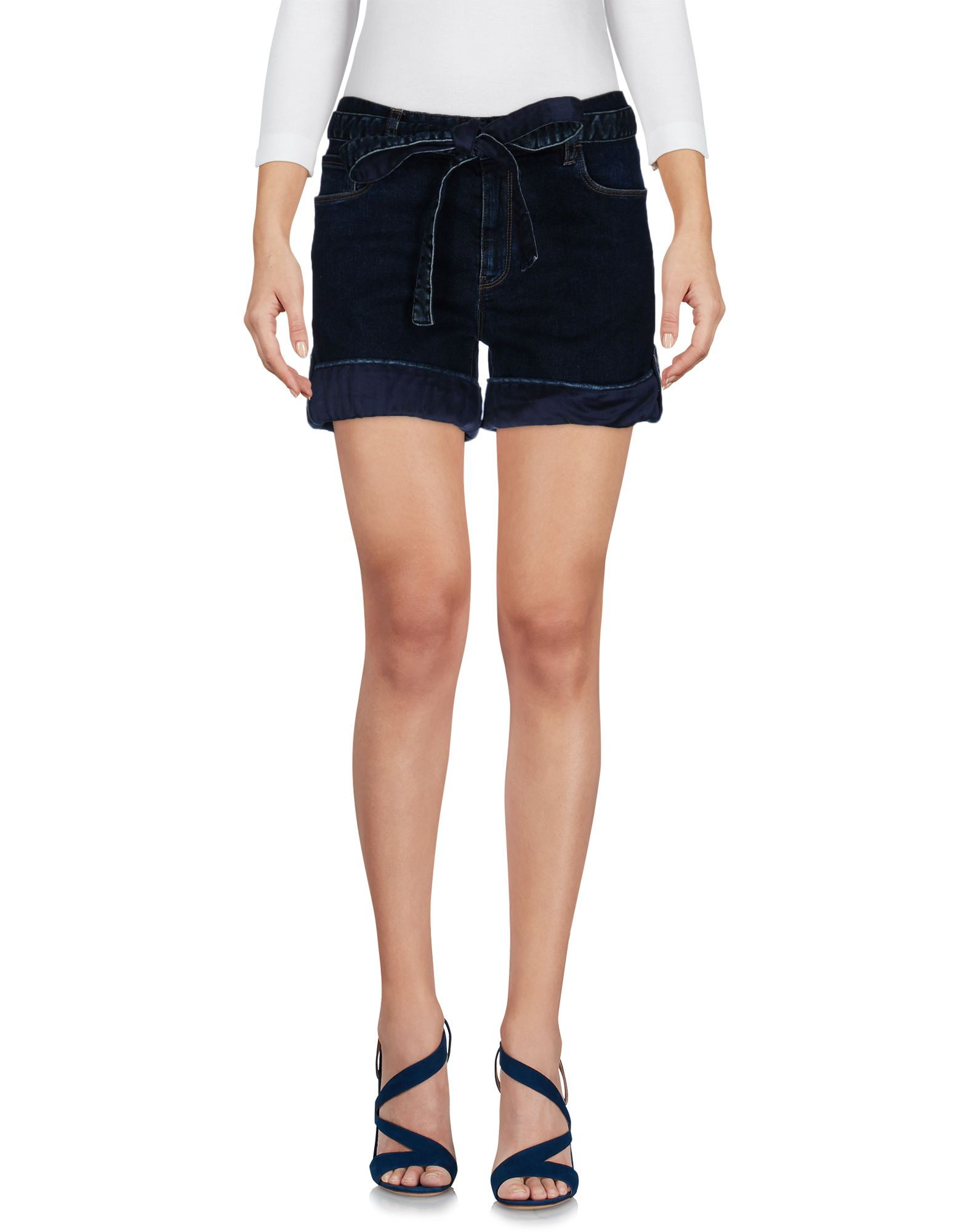 Patchy High Waist Shorts in Black