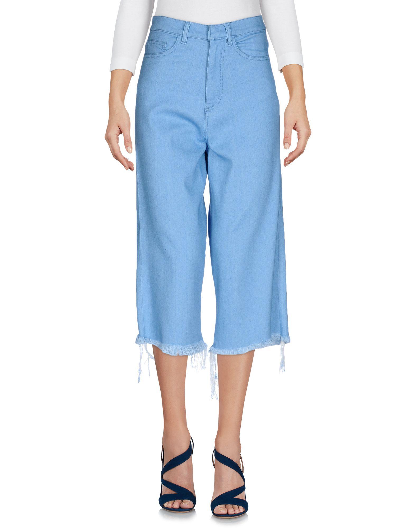 цена MARQUES ' ALMEIDA Джинсовые брюки-капри онлайн в 2017 году