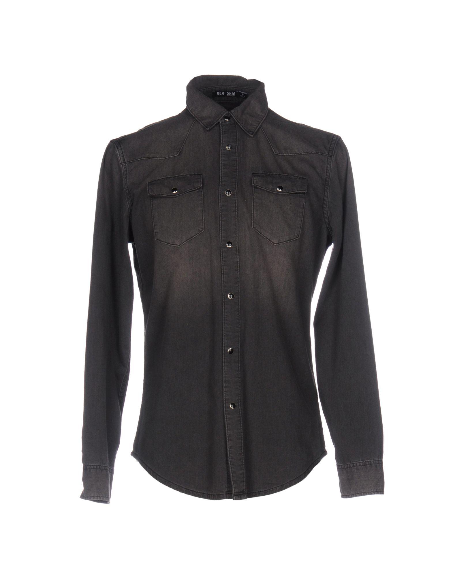 BLK DNM Джинсовая рубашка пуловер vmsally ls blouse dnm