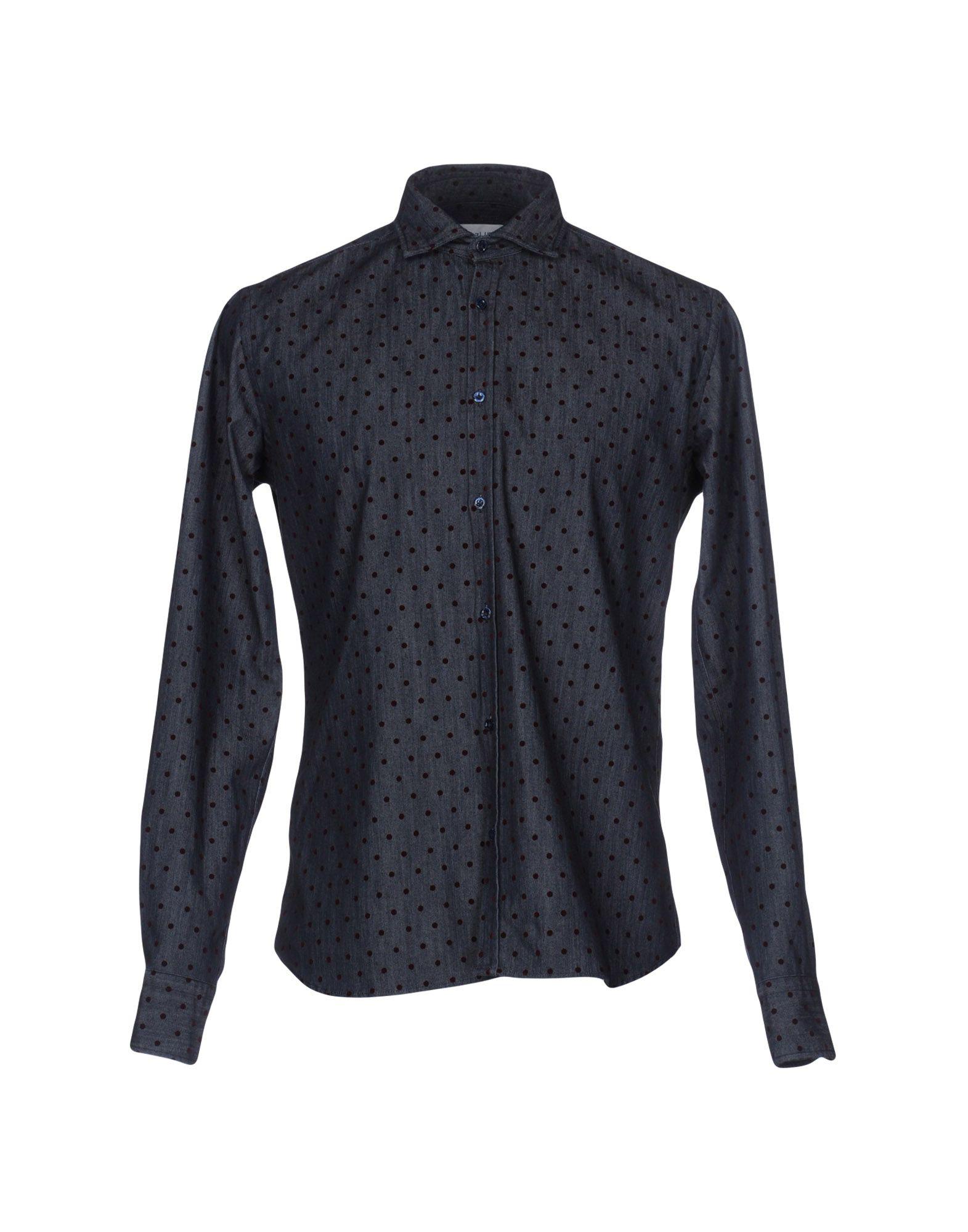 AGLINI Джинсовая рубашка рубашка в мелкий горошек