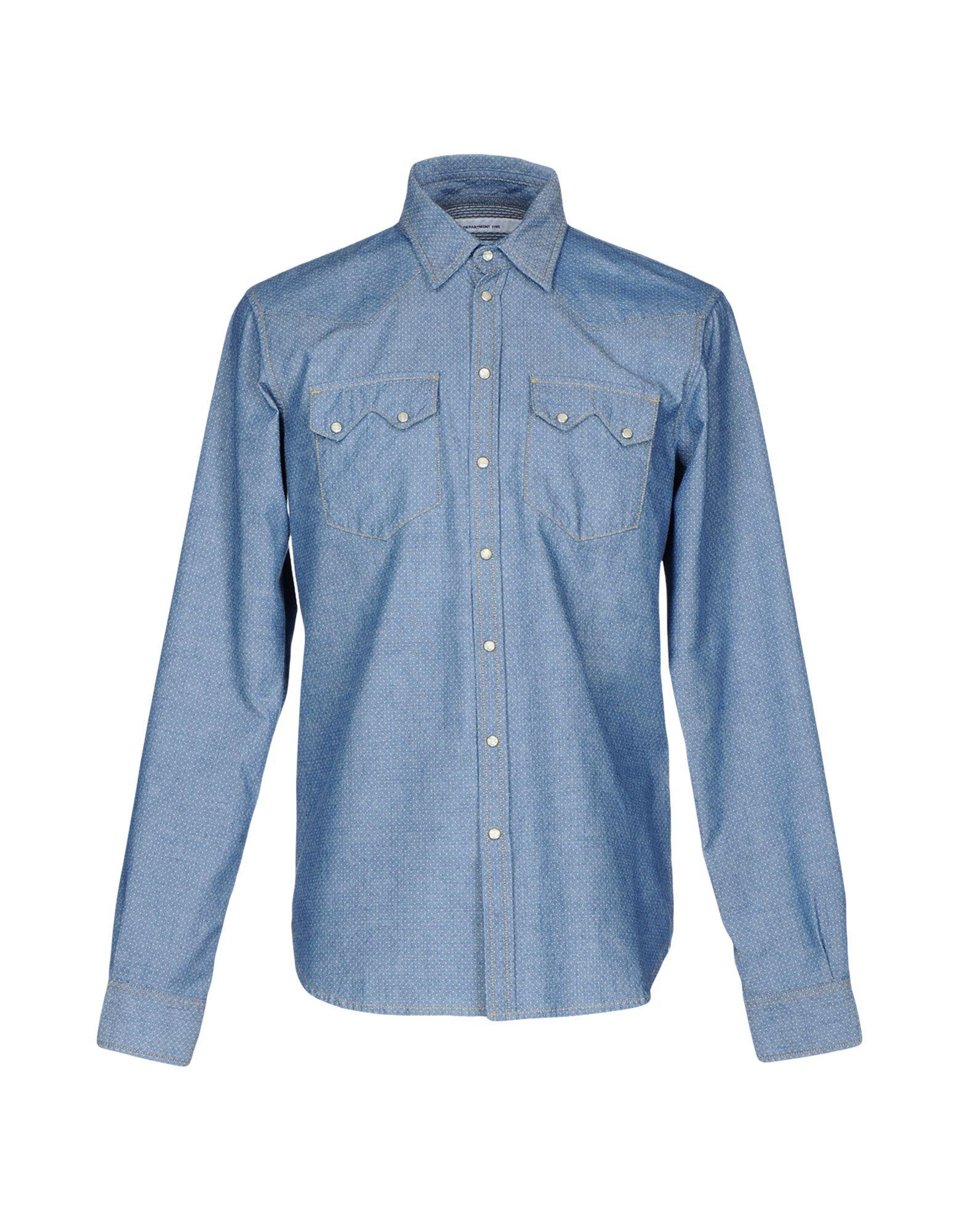 DEPARTMENT 5 Джинсовая рубашка рубашка в мелкий горошек