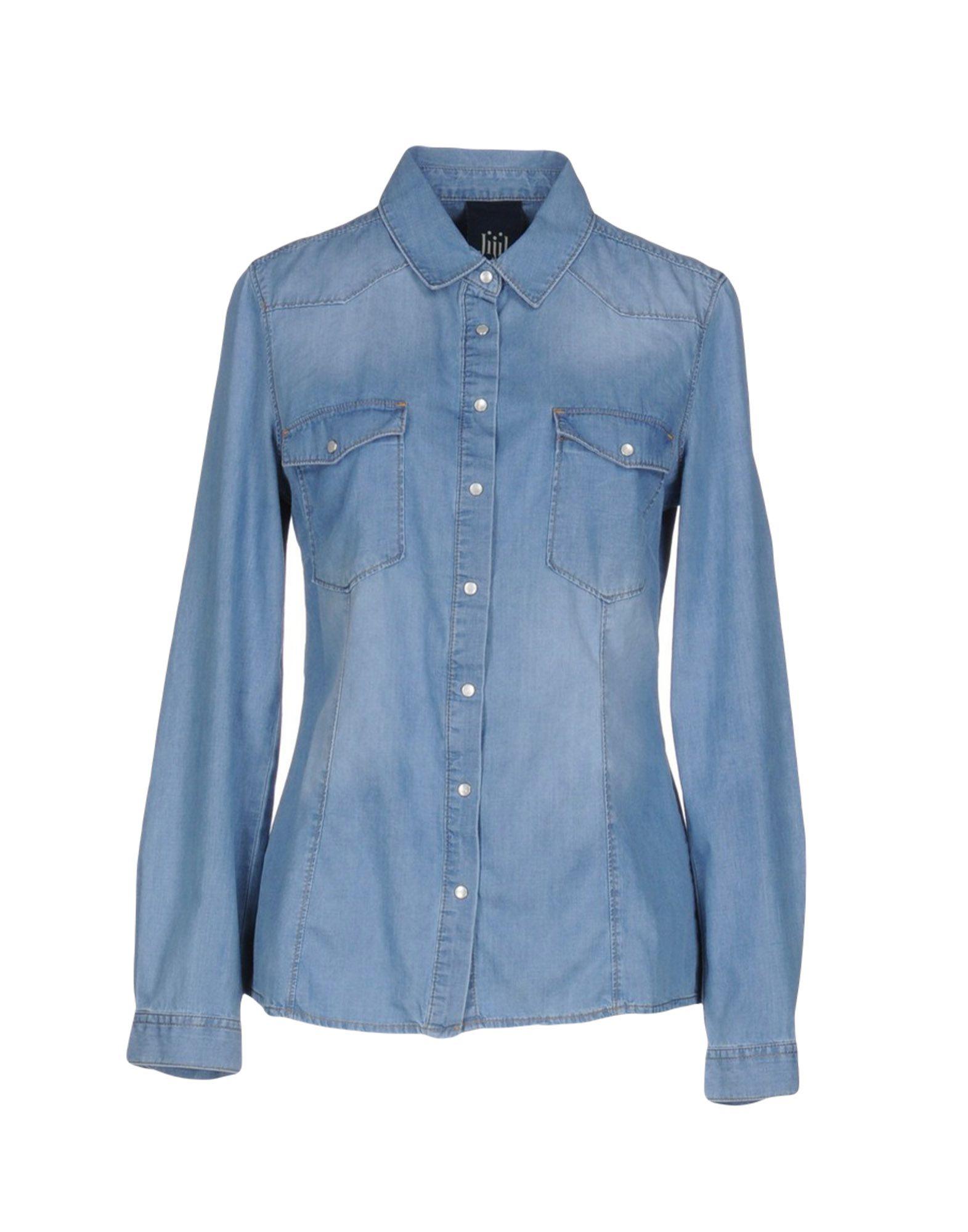 JIJIL LE BLEU Джинсовая рубашка jijil le bleu джинсовая юбка