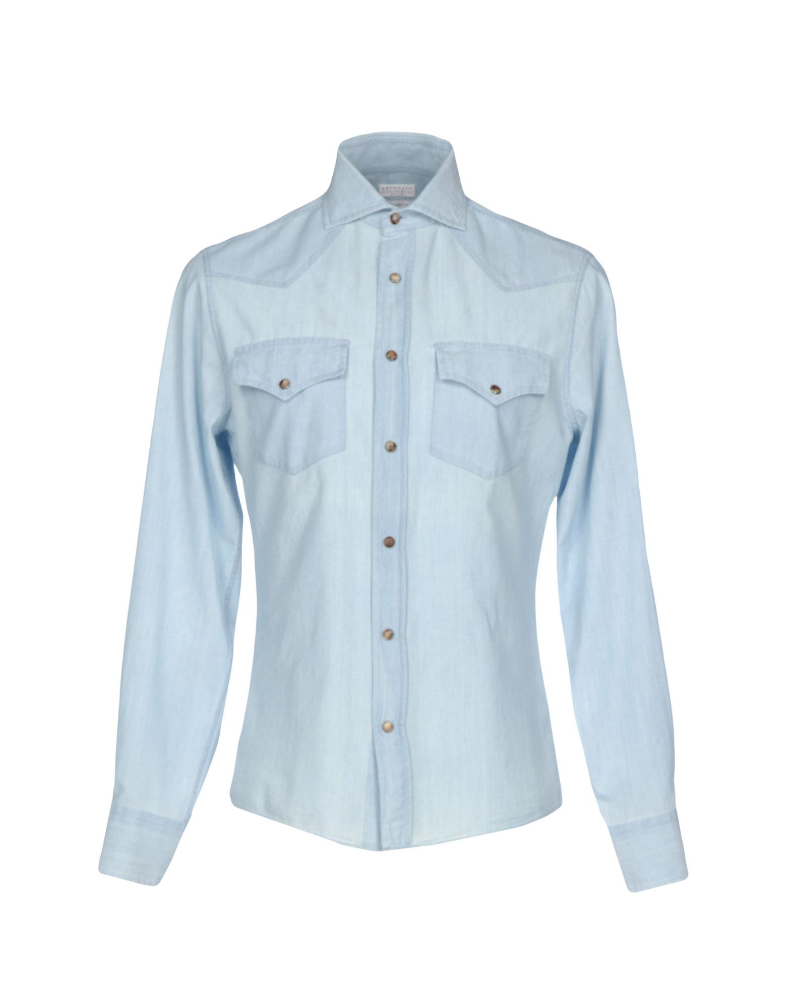 BRUNELLO CUCINELLI Джинсовая рубашка рубашка джинсовая с рисунком сердце 3 12 лет