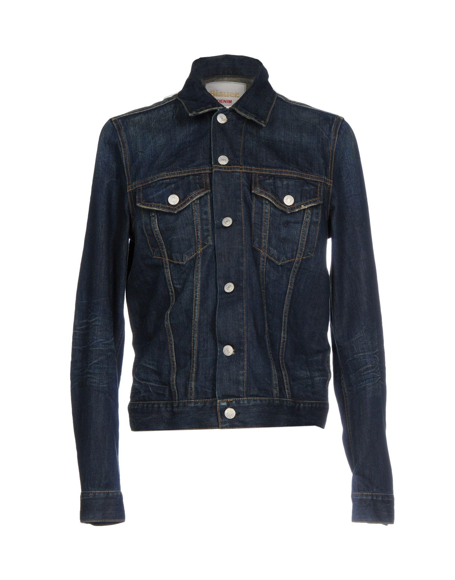 BLAUER Джинсовая верхняя одежда wood wood джинсовая верхняя одежда