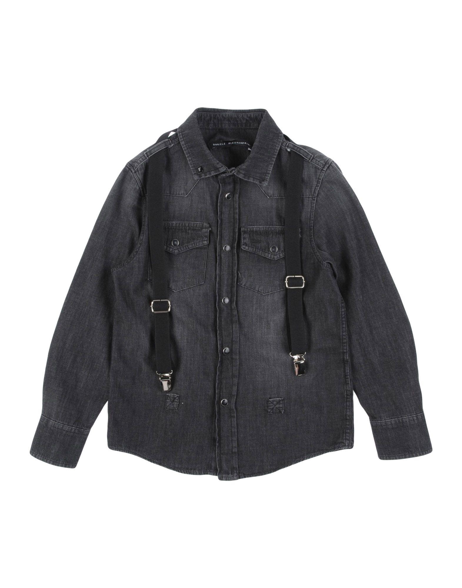 DANIELE ALESSANDRINI Джинсовая рубашка daniele alessandrini сорочка daniele alessandrini c1410b762c3205 40 цветной