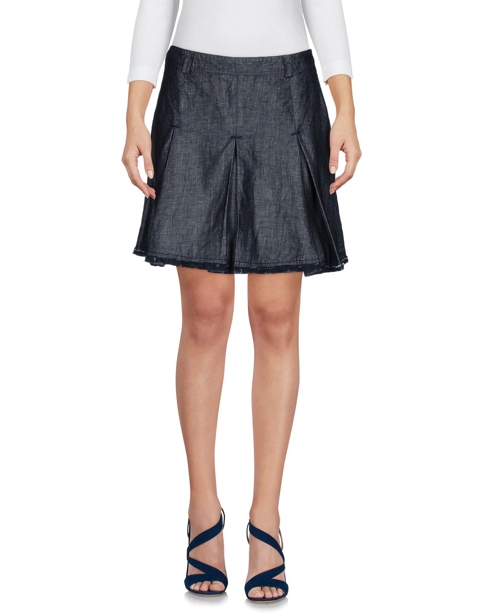 цена ERMANNO DI ERMANNO SCERVINO Джинсовая юбка онлайн в 2017 году