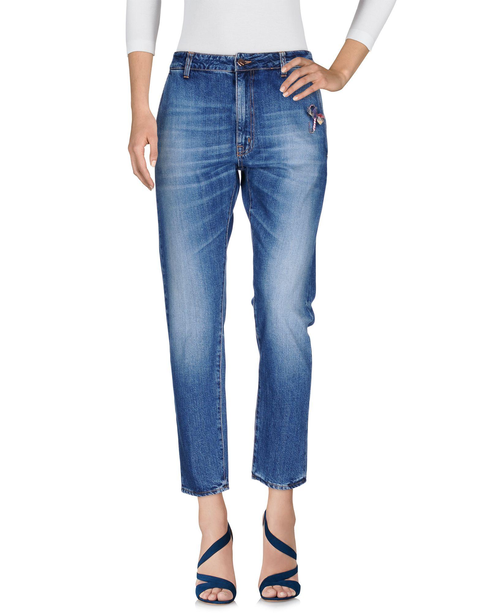 (+) PEOPLE Damen Jeanshose Farbe Blau Größe 7