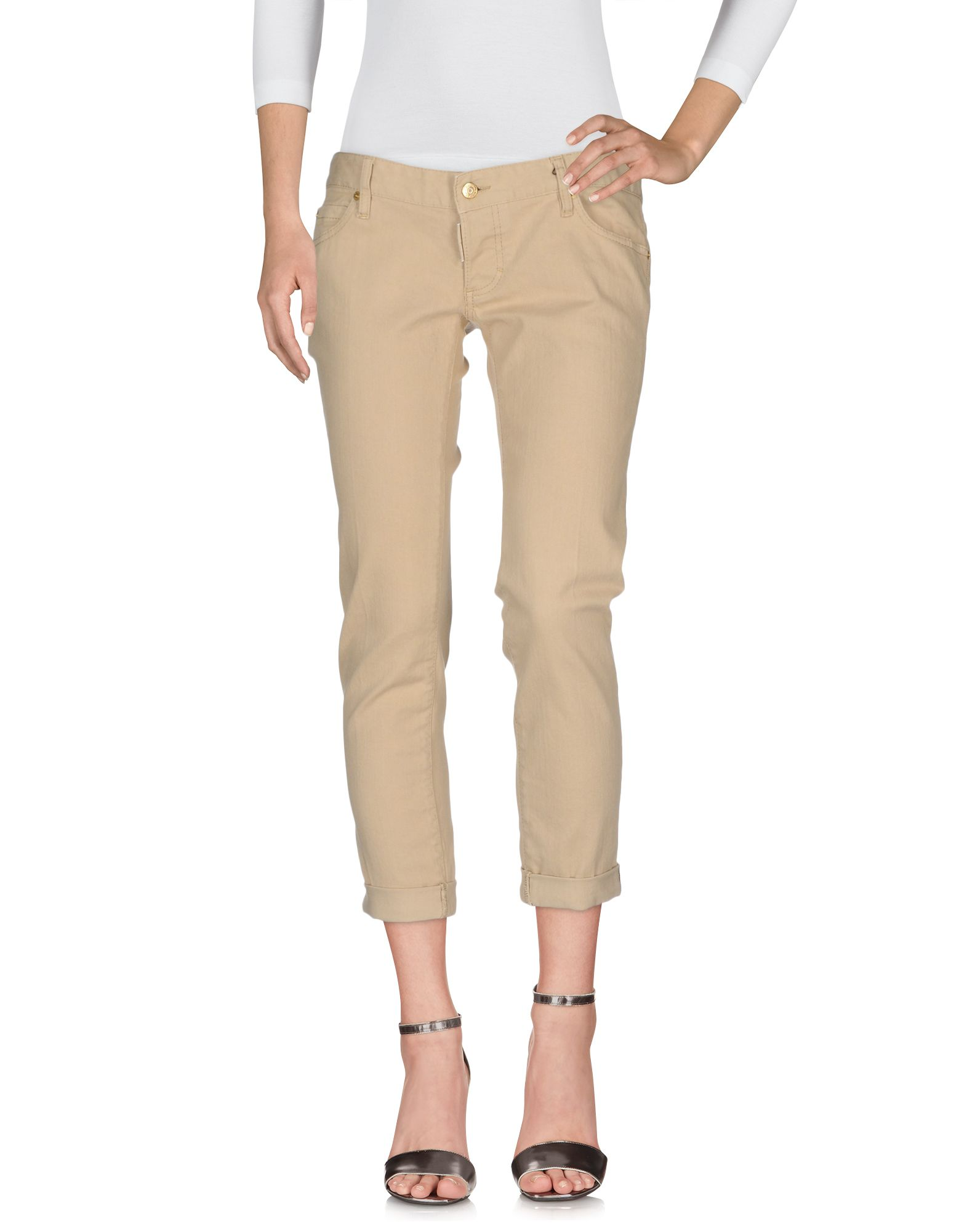 DSQUARED2 Damen Jeanshose Farbe Beige Größe 4 jetztbilligerkaufen