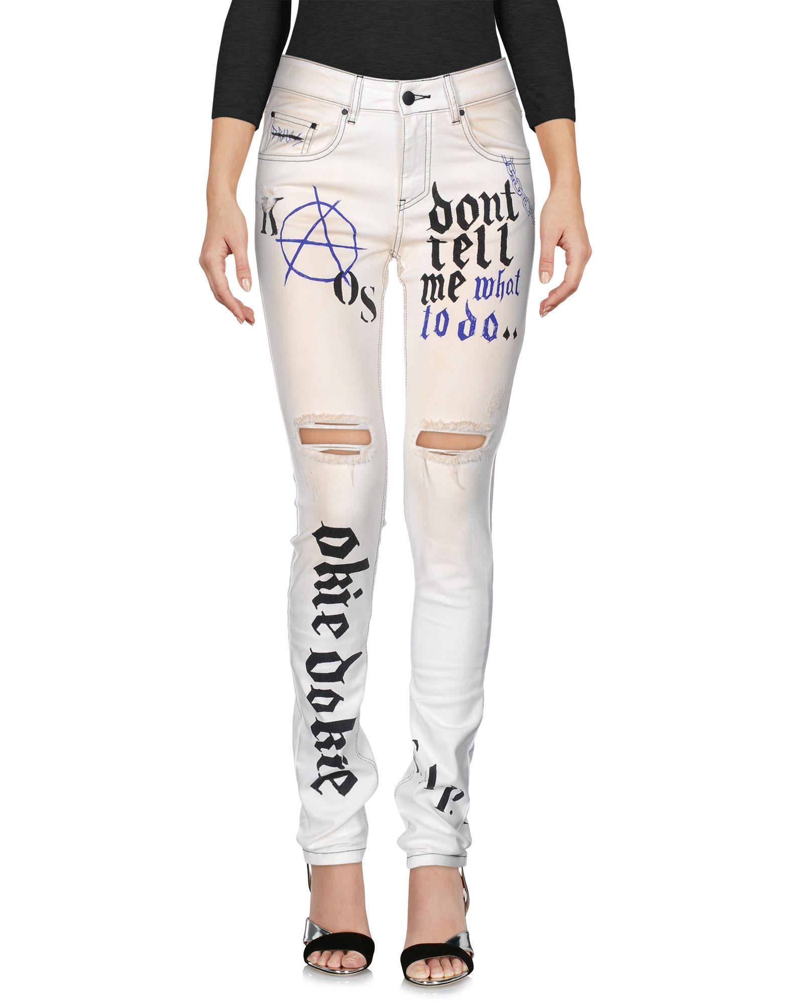 FAP FILLES A PAPA Damen Jeanshose Farbe Weiß Größe 3 jetztbilligerkaufen