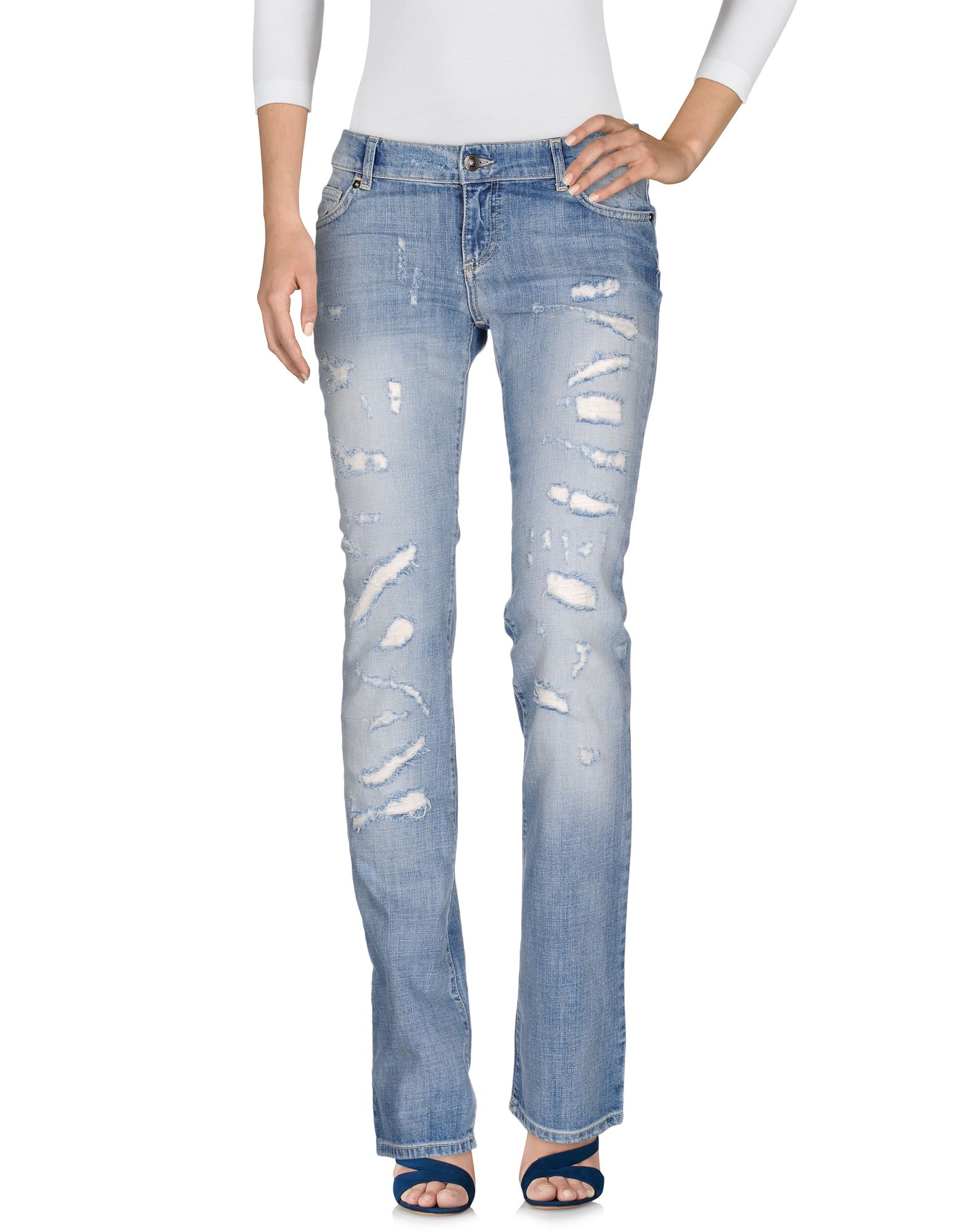 VERSUS VERSACE Damen Jeanshose Farbe Blau Größe 6 jetztbilligerkaufen