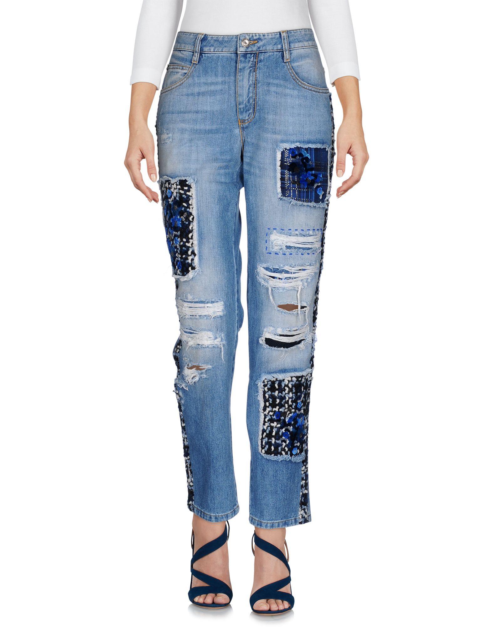 ERMANNO SCERVINO Damen Jeanshose Farbe Blau Größe 3 jetztbilligerkaufen