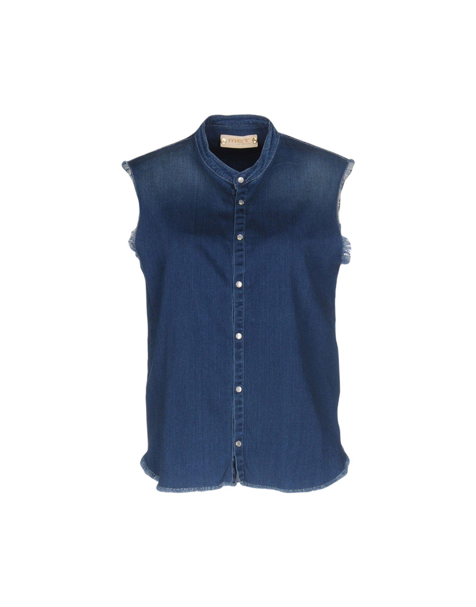 рубашки met рубашка MET & FRIENDS Джинсовая рубашка