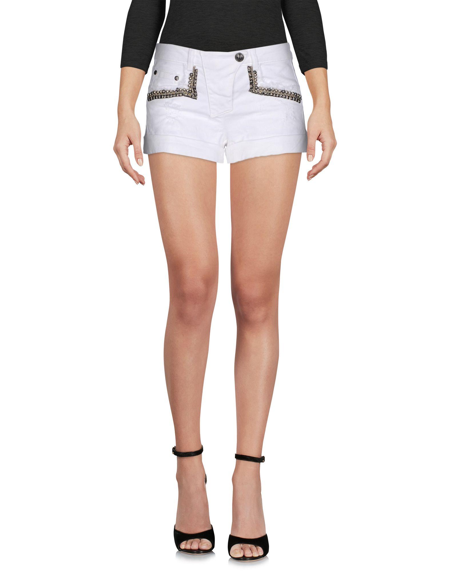 PIERRE BALMAIN Джинсовые шорты туника белая с рисунком byblos ут 00003790