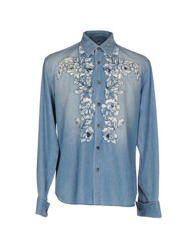 цена  ERMANNO SCERVINO Джинсовая рубашка  онлайн в 2017 году