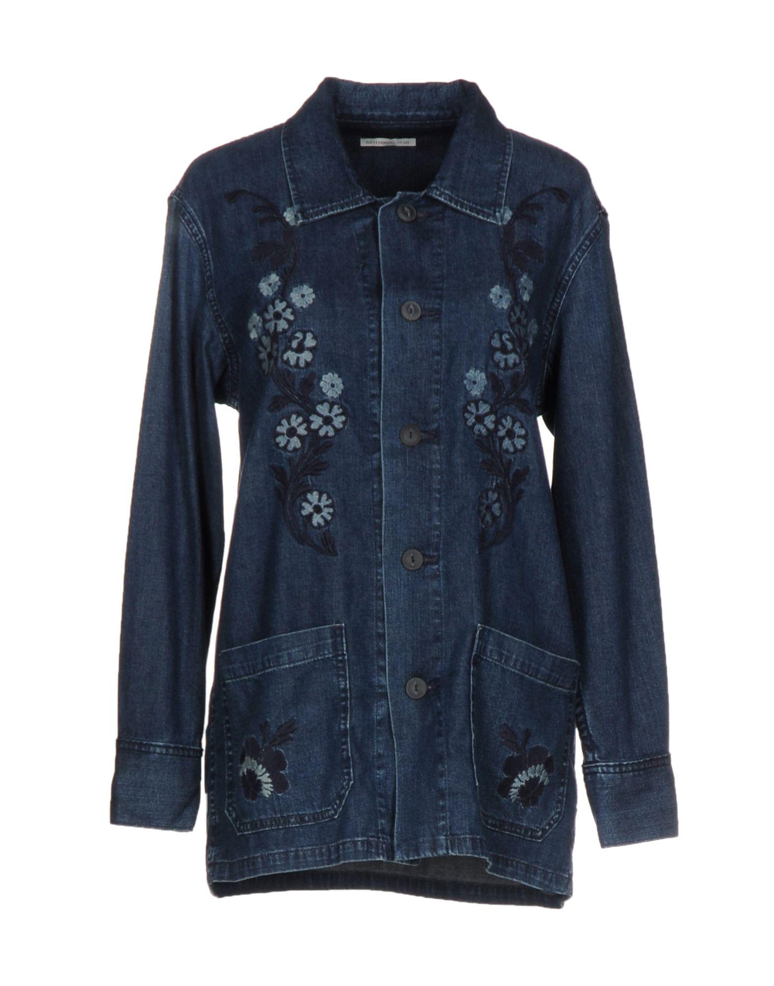 ALEXACHUNG for AG Jeans Джинсовая рубашка цена 2017