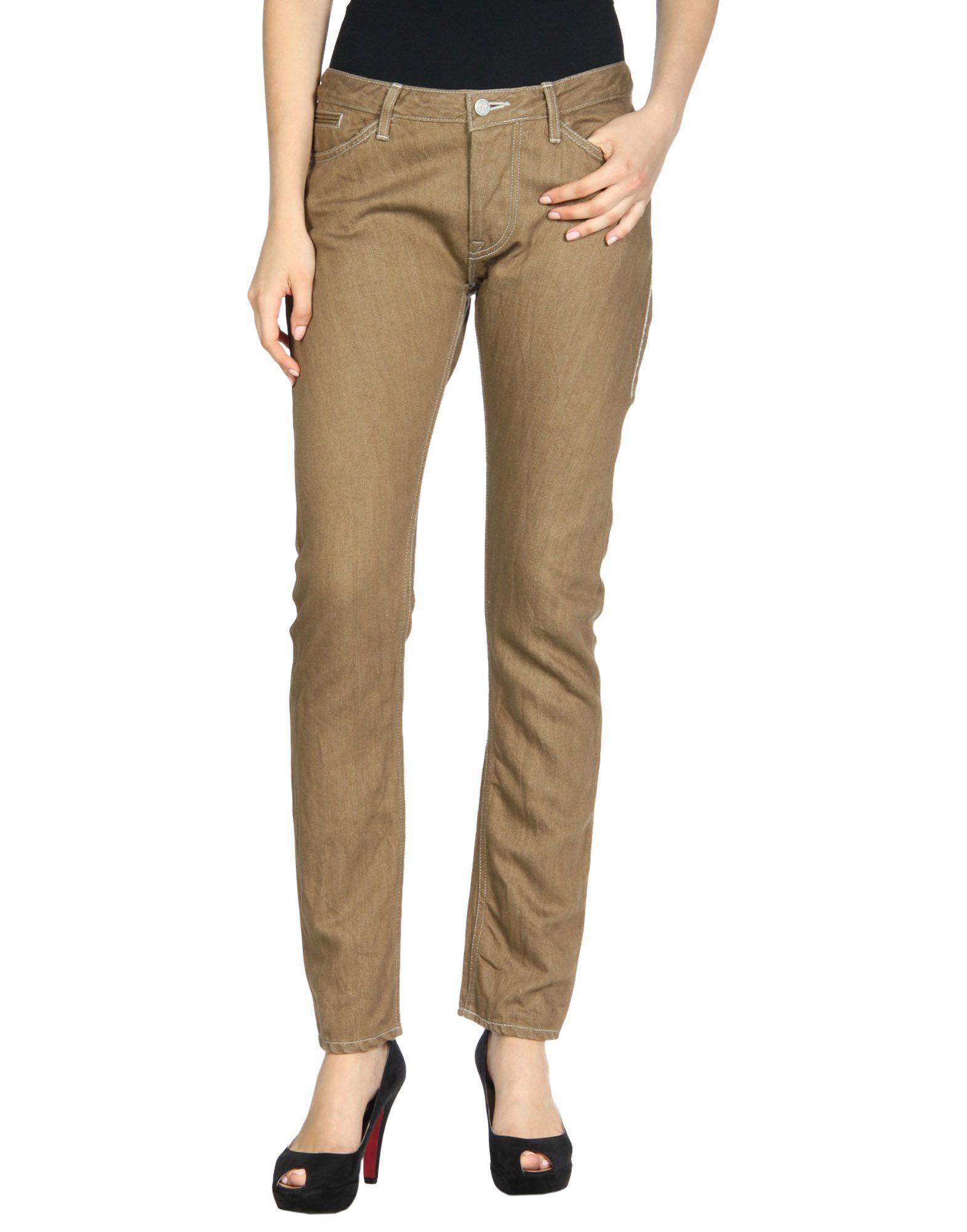 MINÄ PERHONEN Denim Pants in Brown