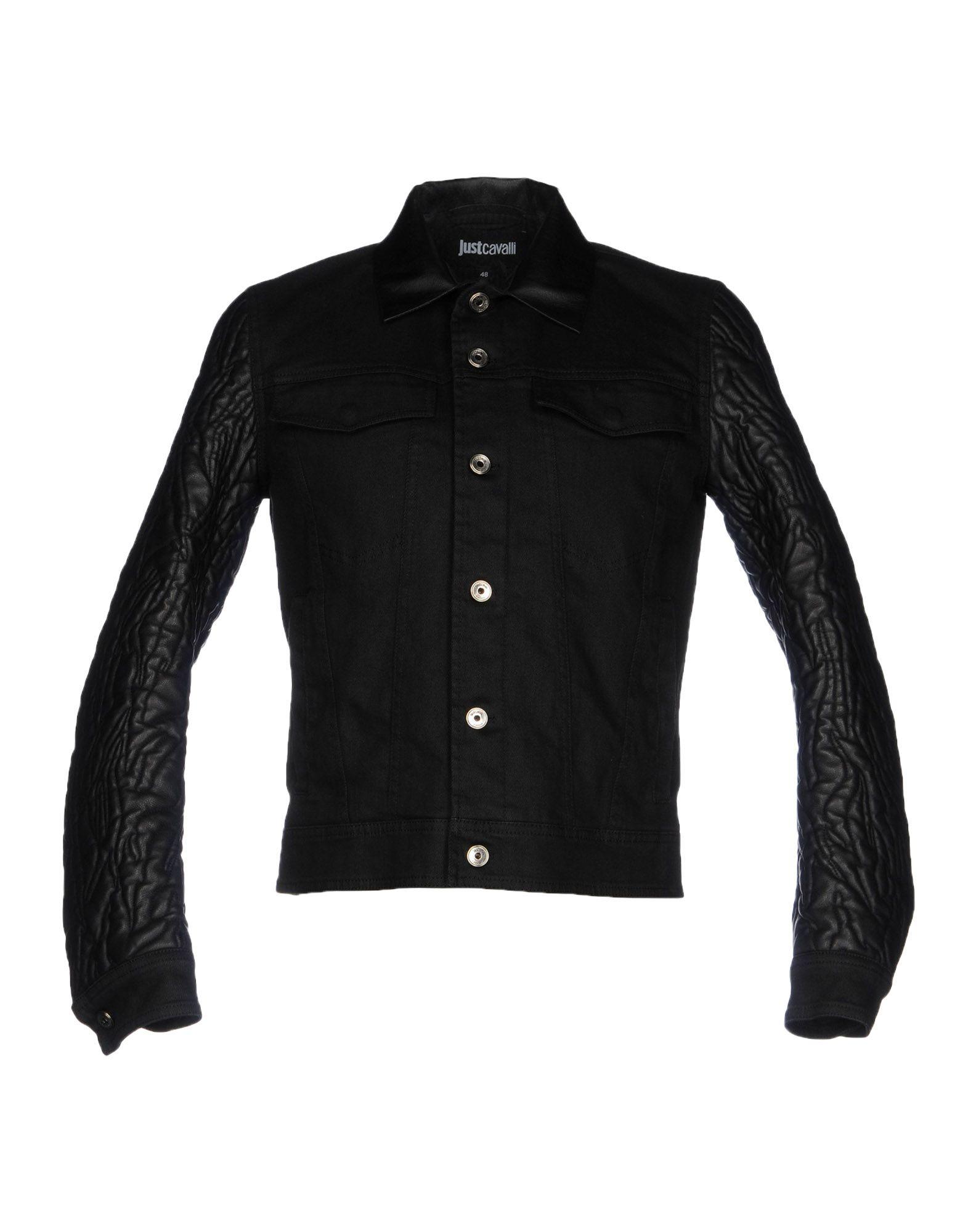 цена JUST CAVALLI Джинсовая верхняя одежда онлайн в 2017 году
