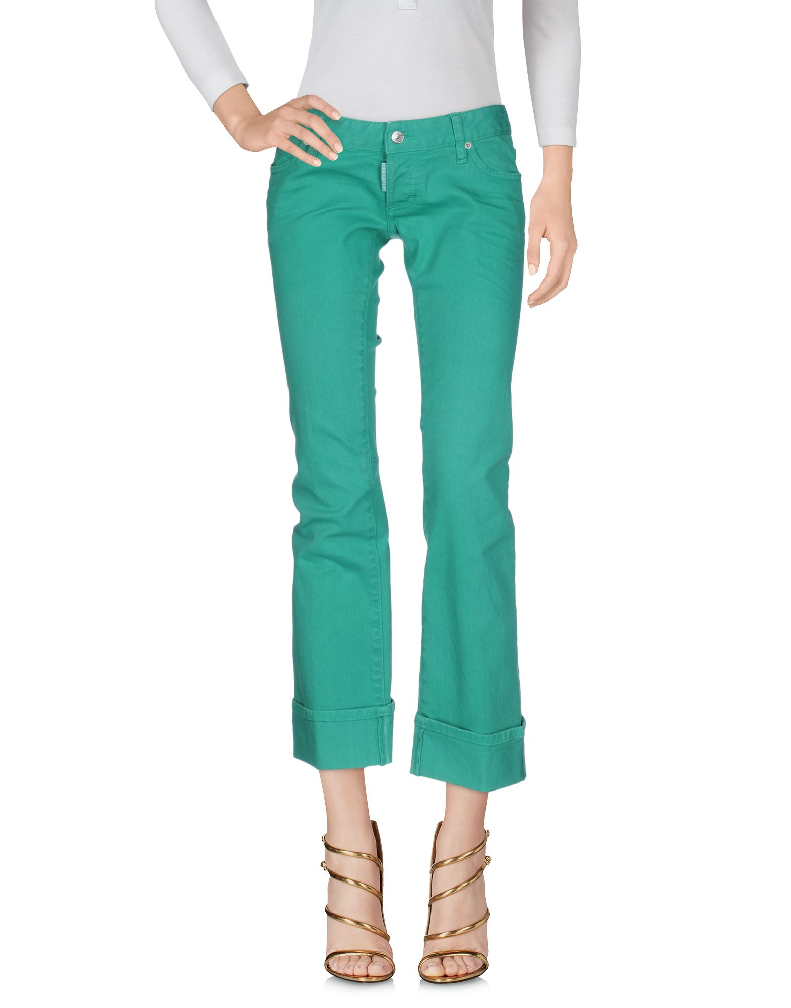 Фото DSQUARED2 Джинсовые брюки-капри. Купить с доставкой
