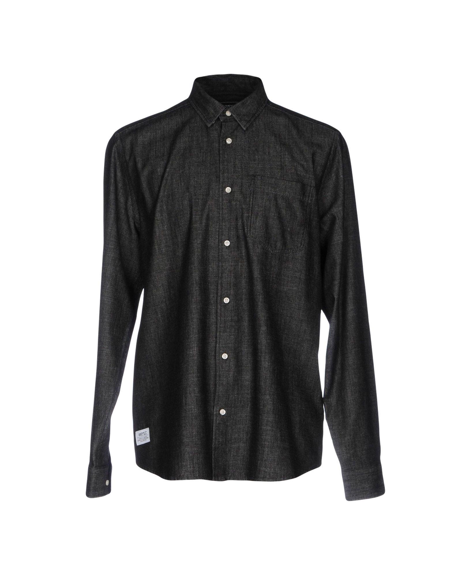 купить WESC Джинсовая рубашка дешево