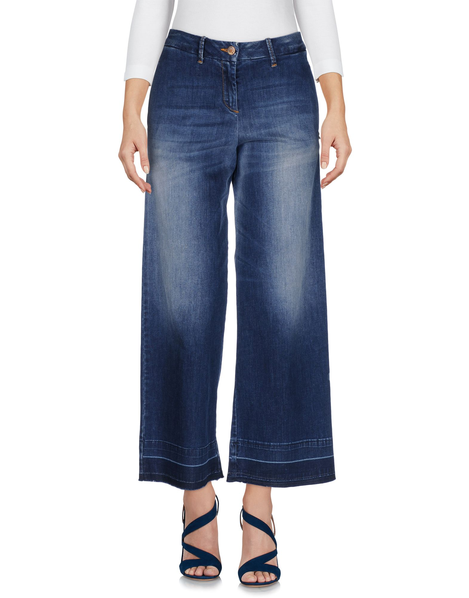 цена MET Джинсовые брюки-капри онлайн в 2017 году