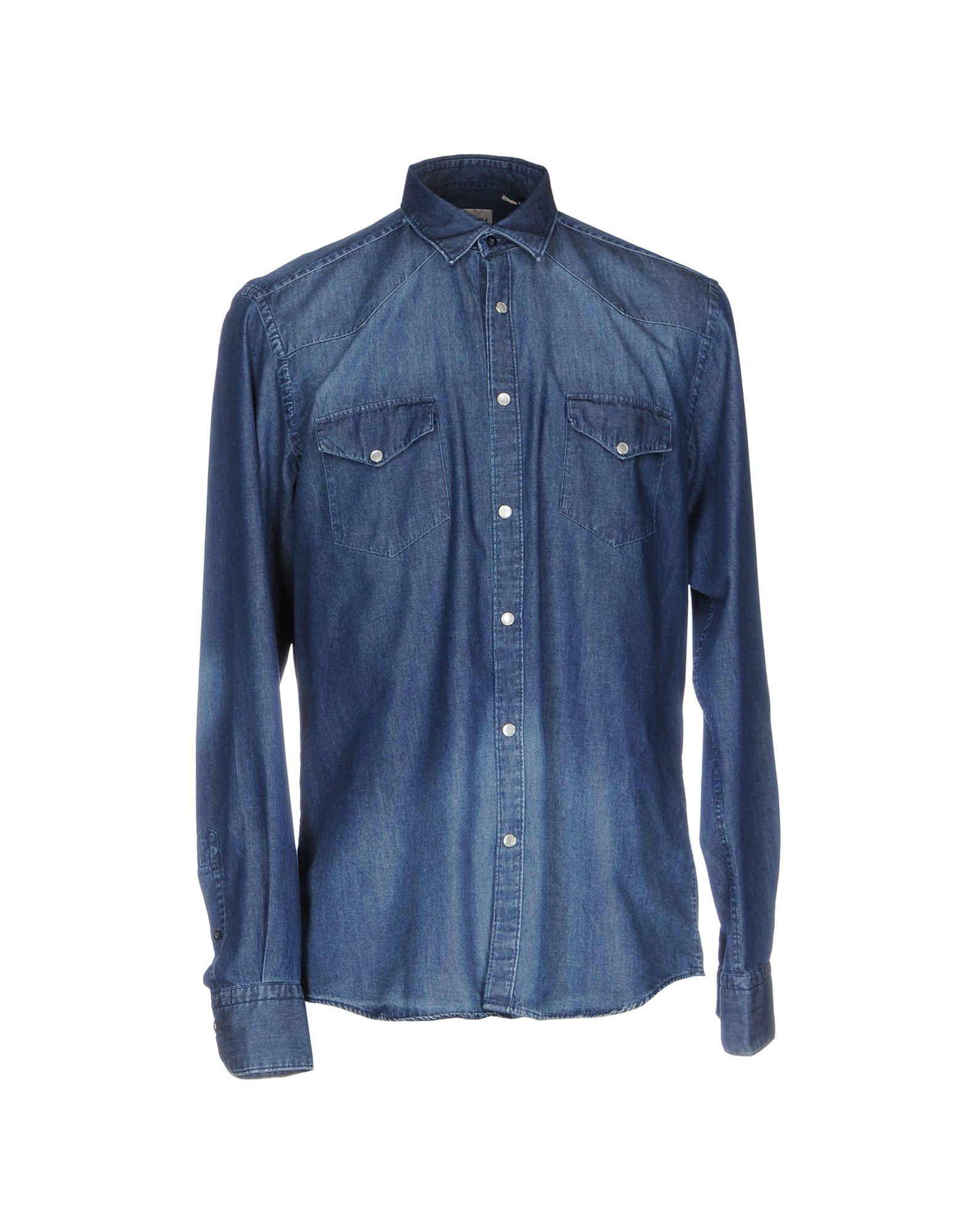 《送料無料》SO MUCH メンズ デニムシャツ ブルー XXL コットン 100%