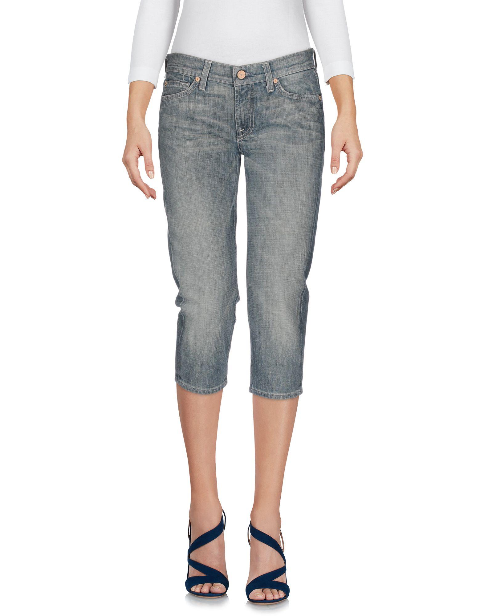 цена 7 FOR ALL MANKIND Джинсовые брюки-капри онлайн в 2017 году