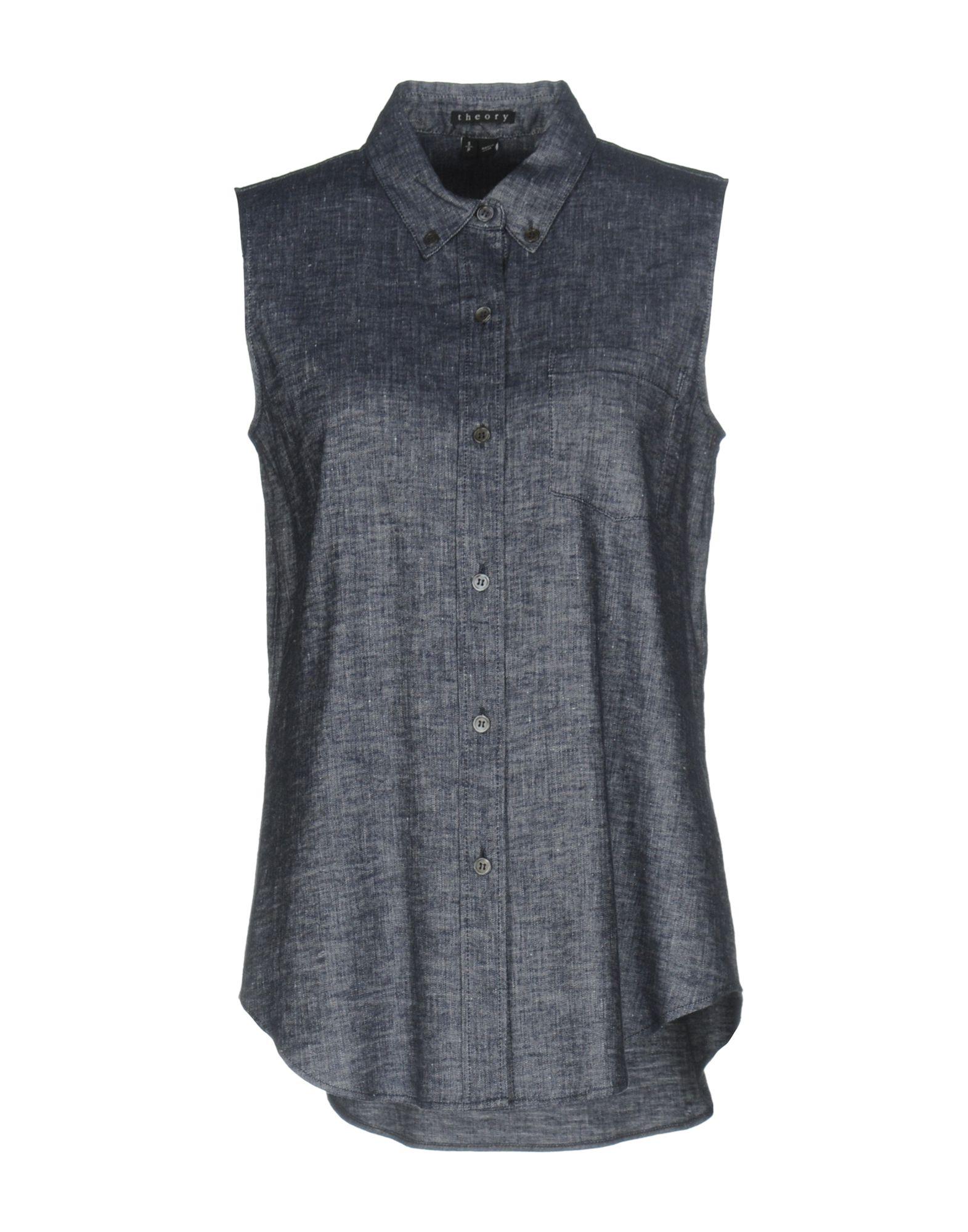 Фото THEORY Джинсовая рубашка. Купить с доставкой
