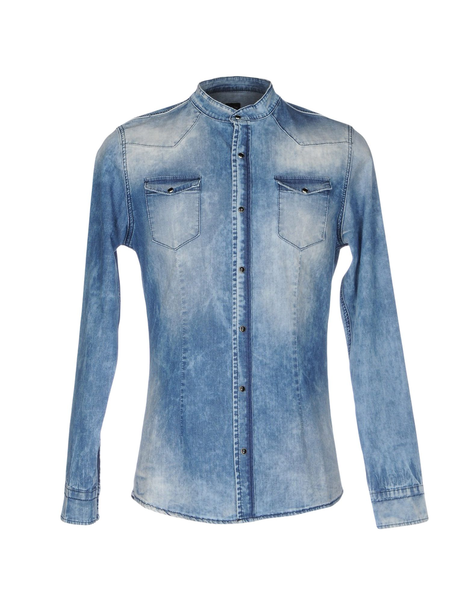DANIELE ALESSANDRINI Джинсовая рубашка рубашка daniele alessandrini рубашка