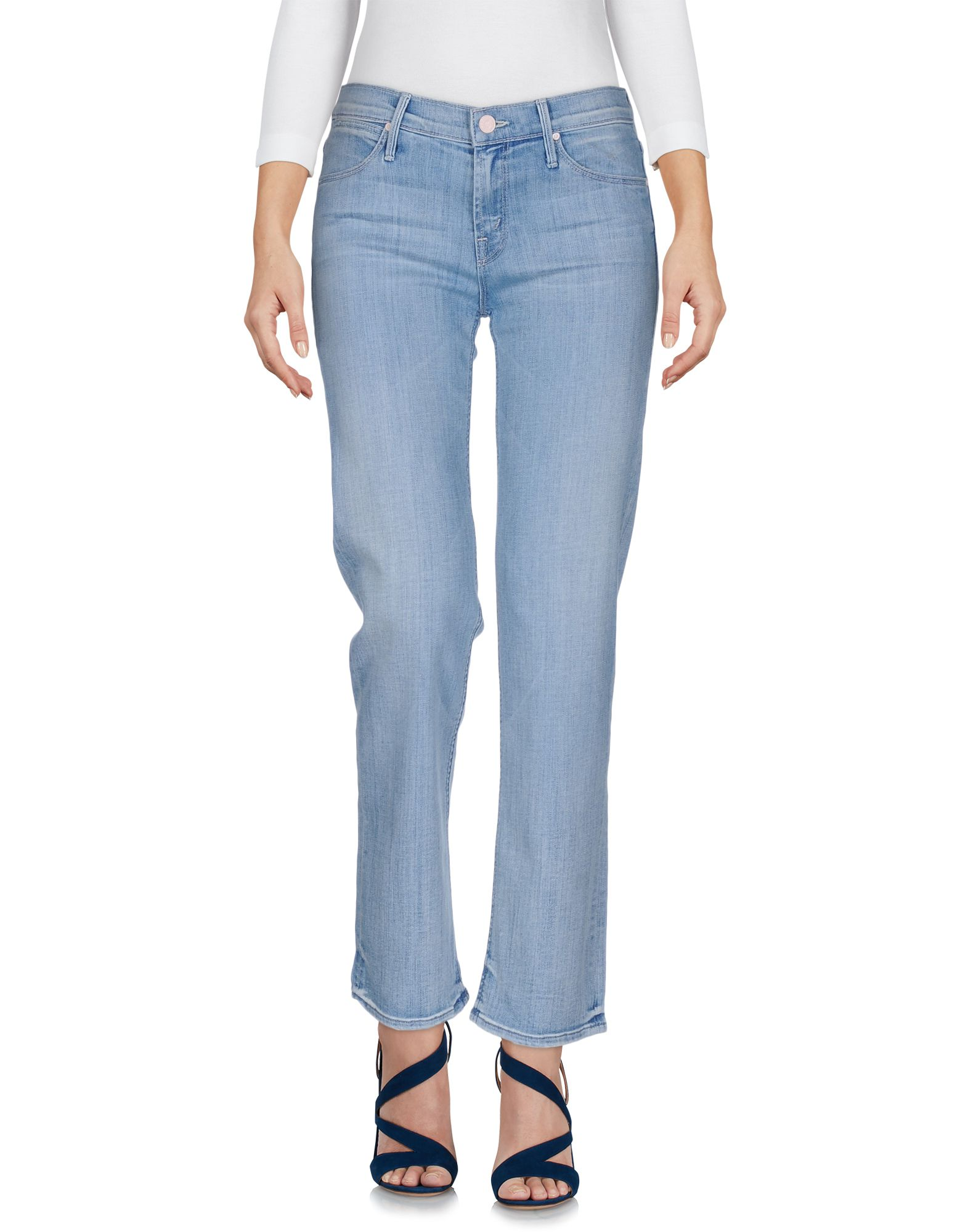 MOTHER Damen Jeanshose Farbe Blau Größe 3