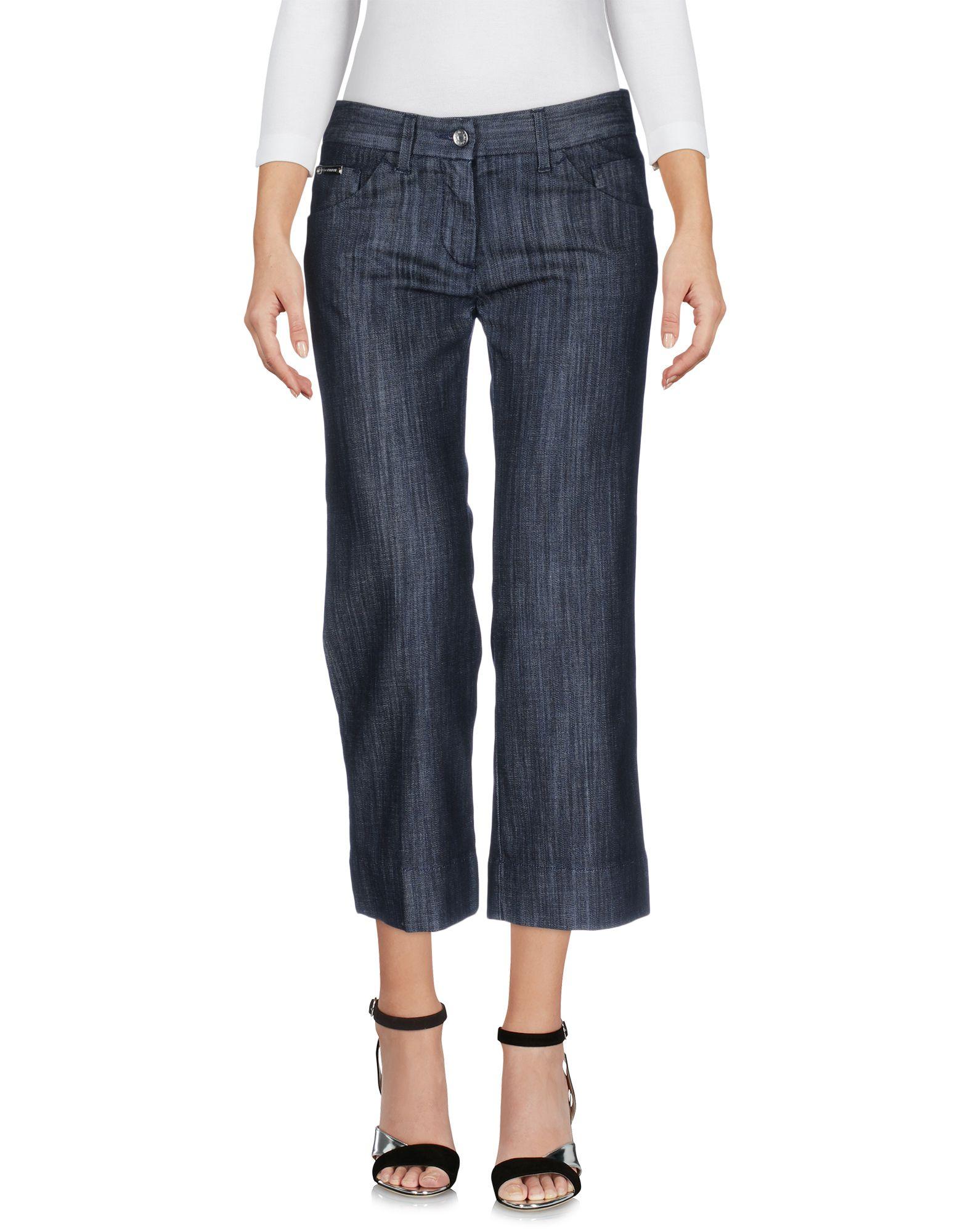 DOLCE & GABBANA Damen Jeanshose Farbe Schwarz Größe 2
