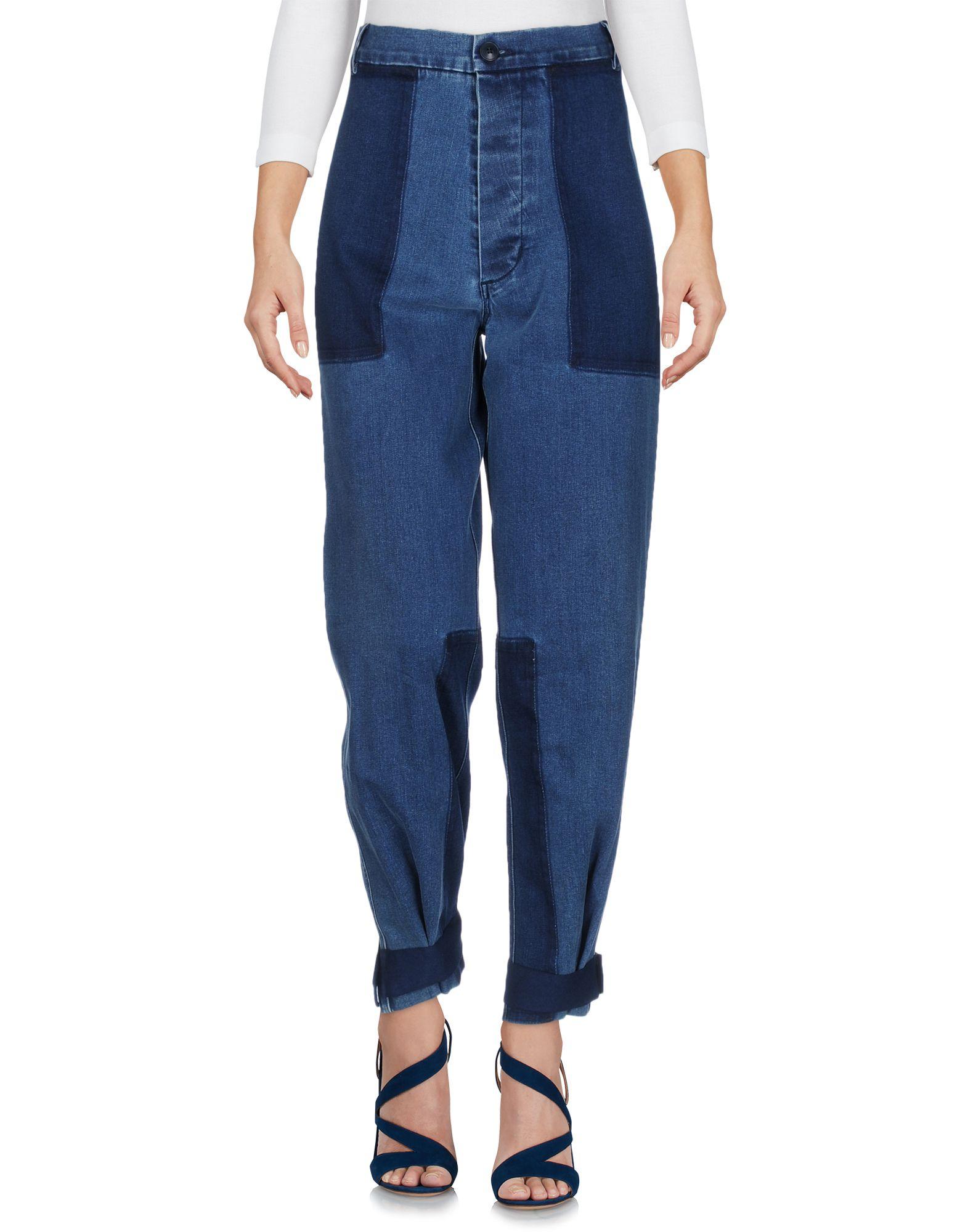 BAND OF OUTSIDERS Damen Jeanshose Farbe Blau Größe 2