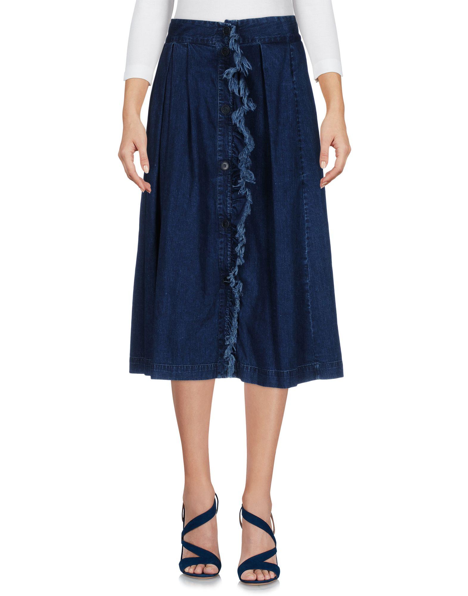 BAND OF OUTSIDERS Damen Jeansrock Farbe Blau Größe 2