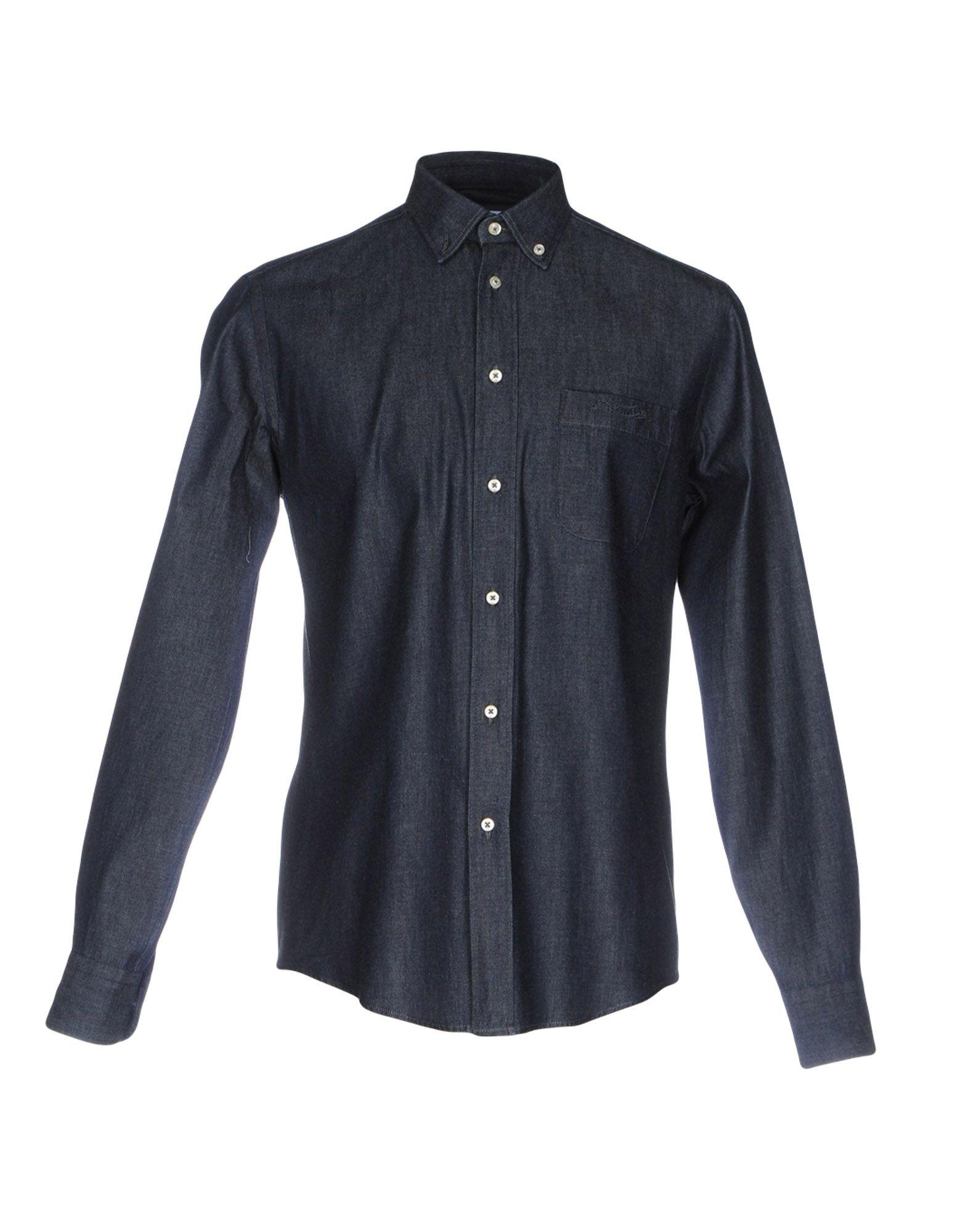 MORRIS Herren Jeanshemd Farbe Blau Größe 9