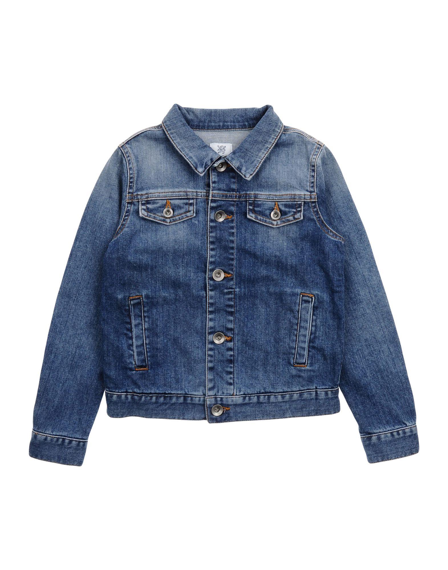 MAURO GRIFONI KIDS Jungen 3-8 jahre Jeansjacke/-mantel Farbe Blau Größe 6