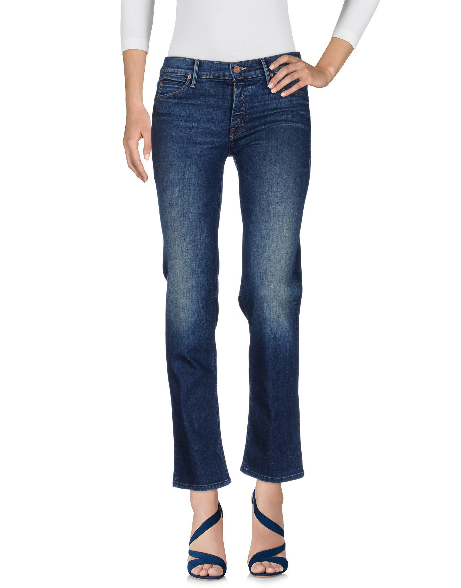 MOTHER Damen Jeanshose Farbe Blau Größe 7