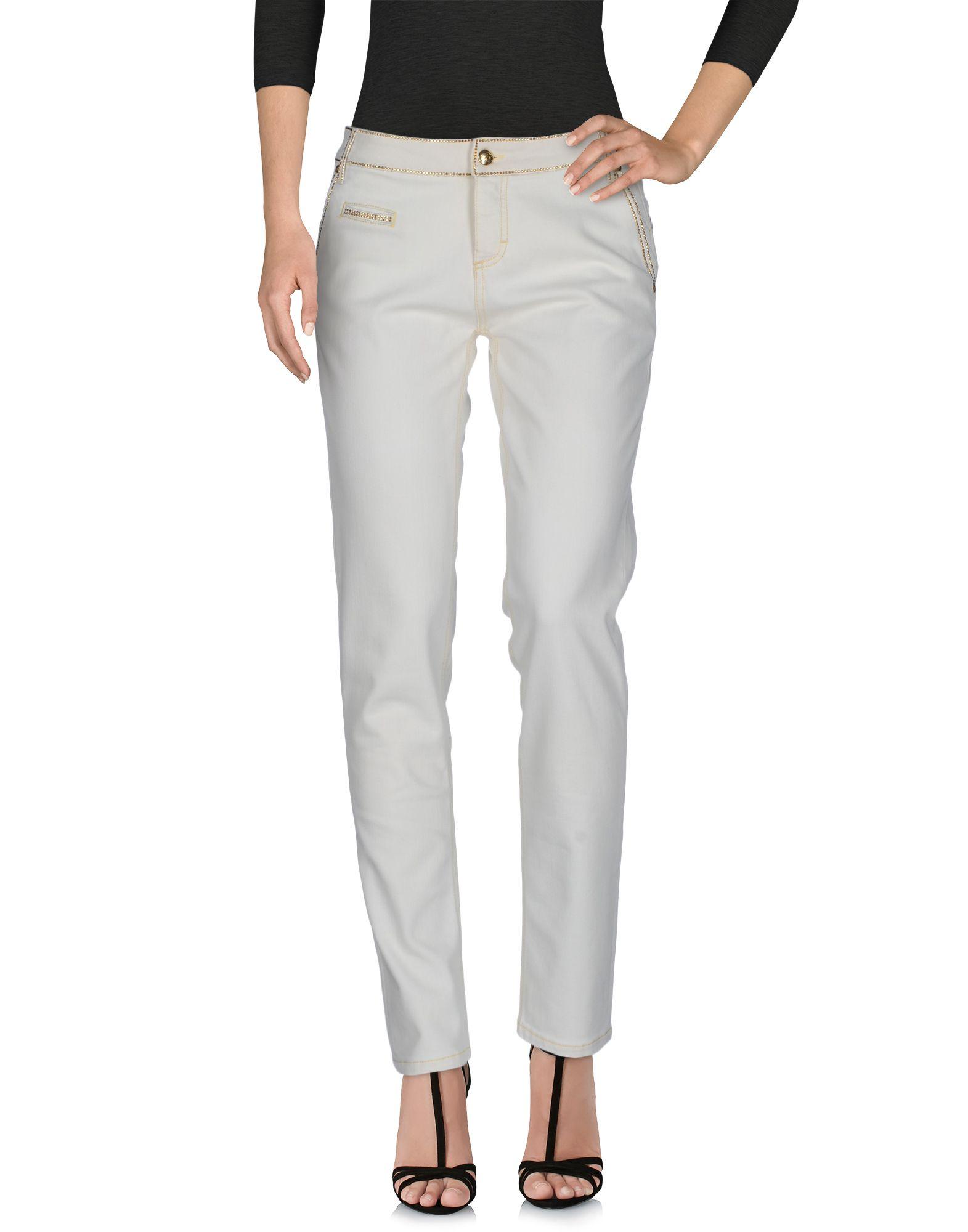 BLUMARINE Damen Jeanshose Farbe Elfenbein Größe 5 - broschei