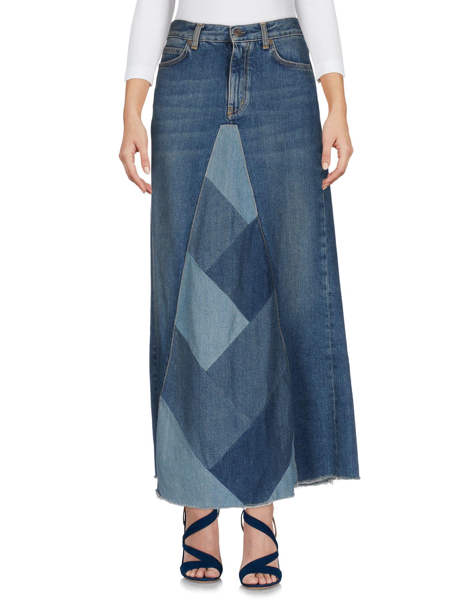 SAINT LAURENT Damen Jeansrock Farbe Blau Größe 4