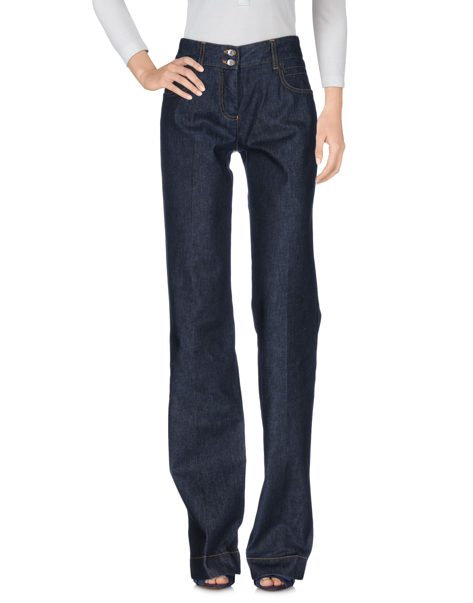 DOLCE & GABBANA Damen Jeanshose Farbe Blau Größe 1