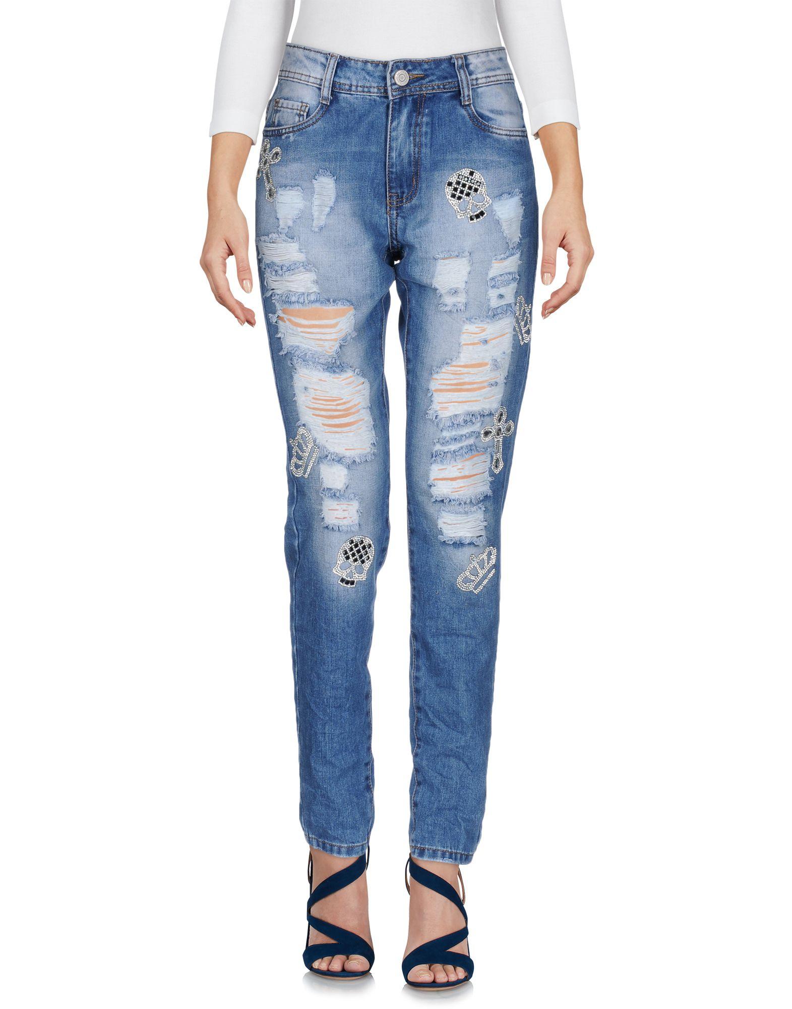 цена MISS QUEEN Джинсовые брюки онлайн в 2017 году