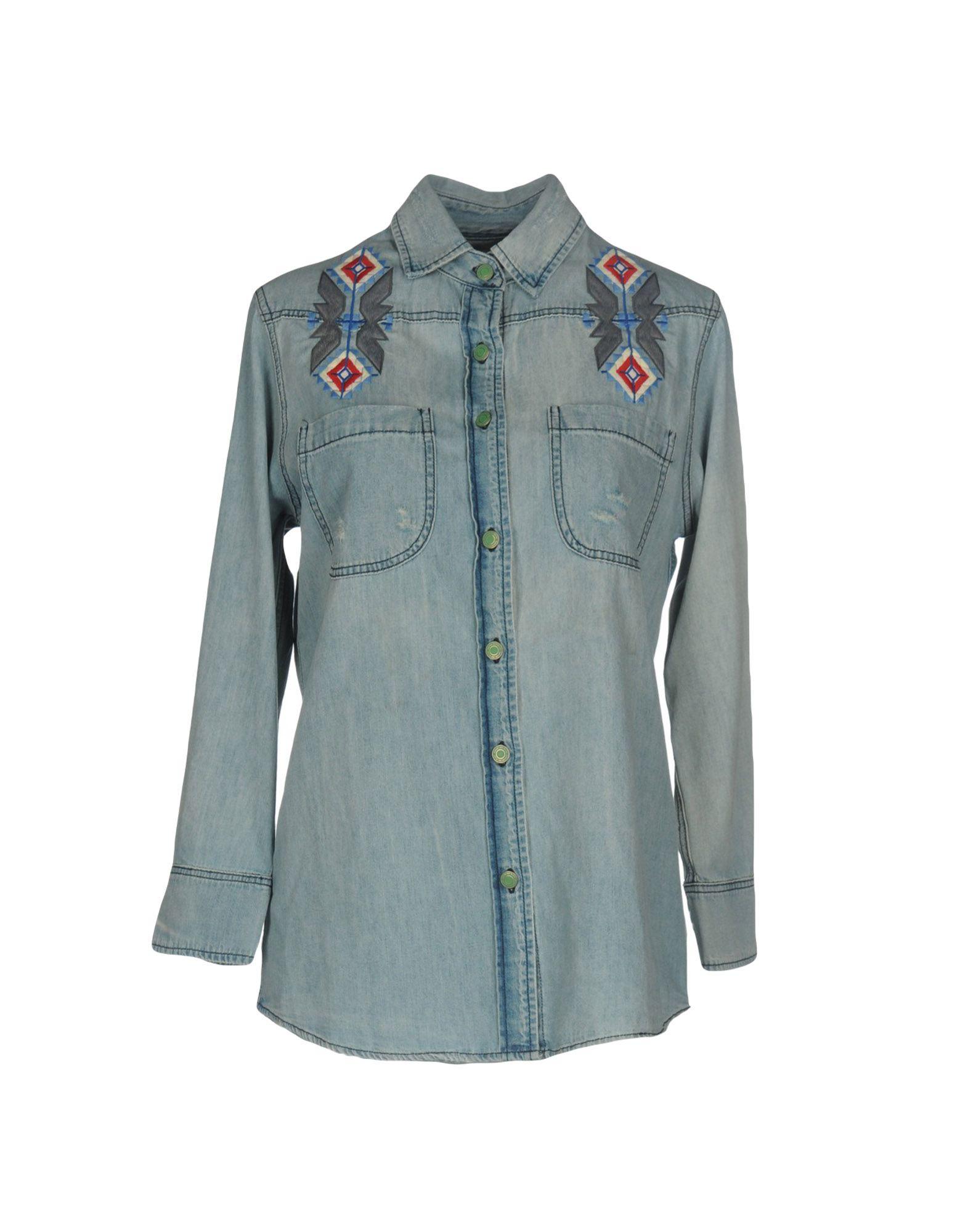 SANDRINE ROSE Джинсовая рубашка sandrine rose джинсовая верхняя одежда